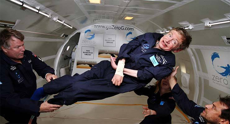 Stephen Hawking floats