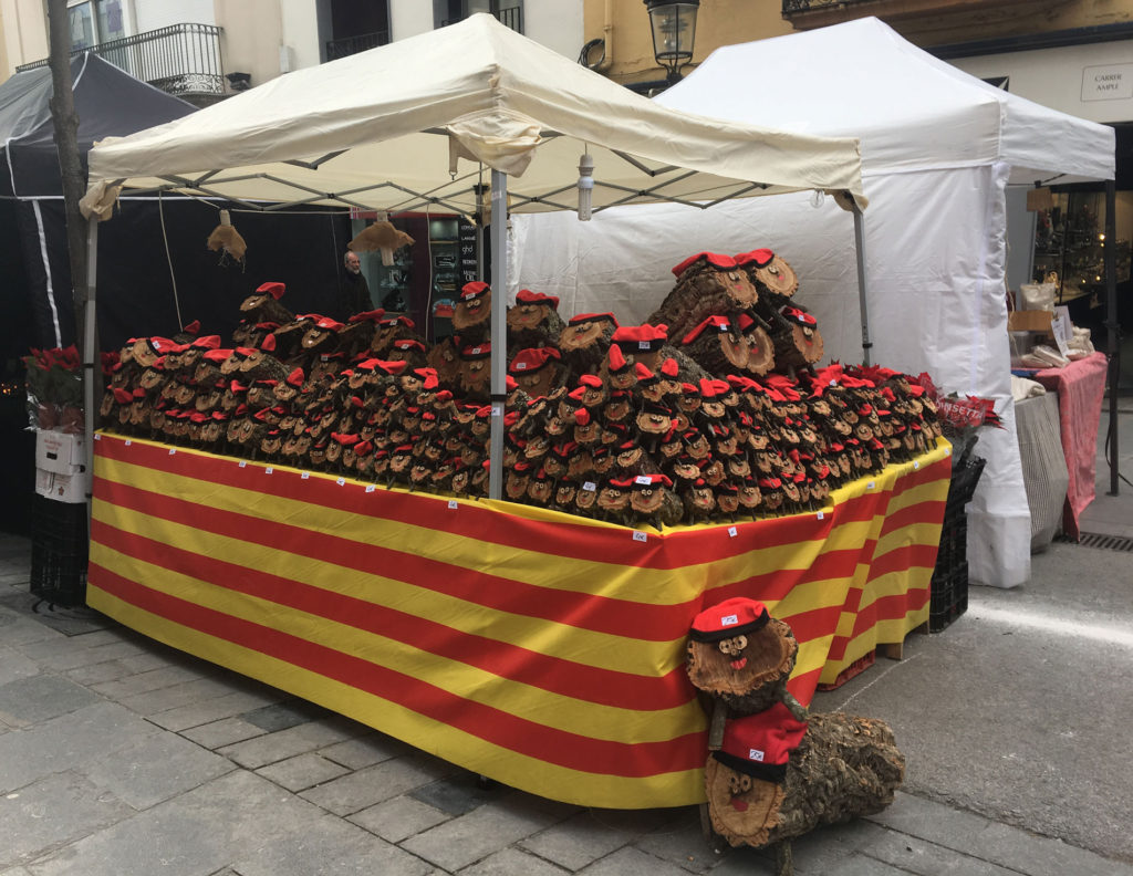 Blanes Christmas market. In case your Tió hasn't crept in from the forest yet.