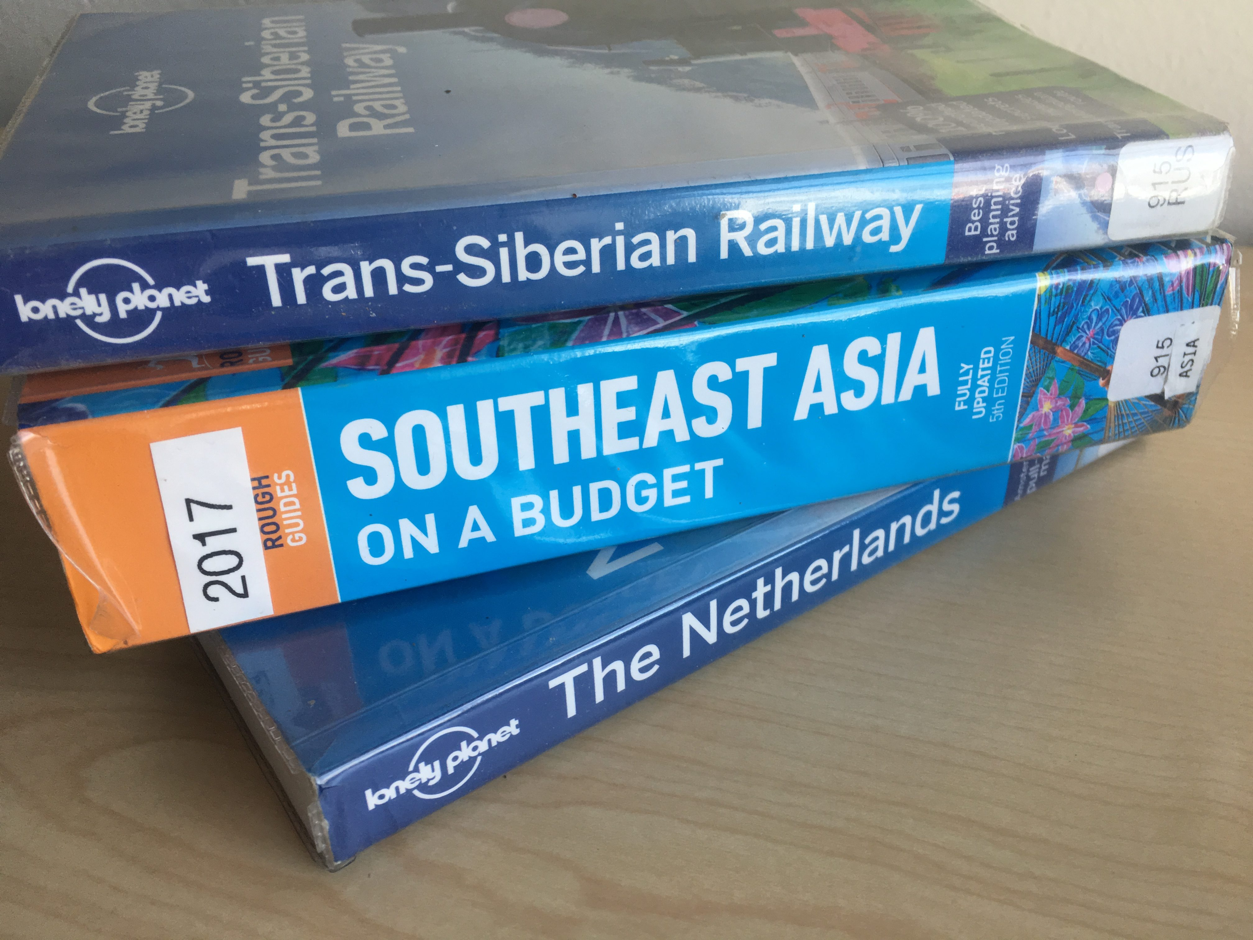 Lonely Planet guides for planning