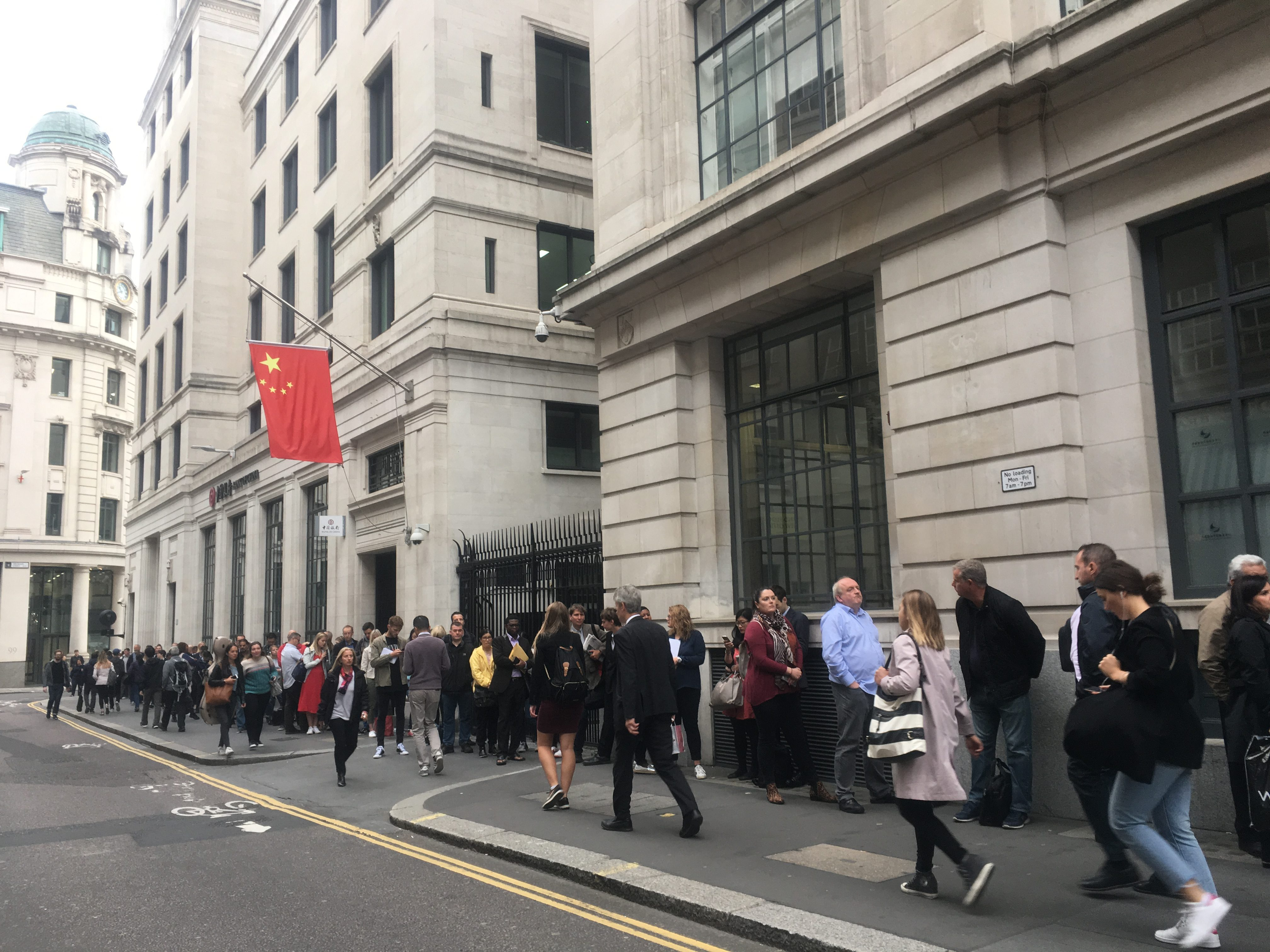 Better view of queue outside Chinese Visa Application Service
