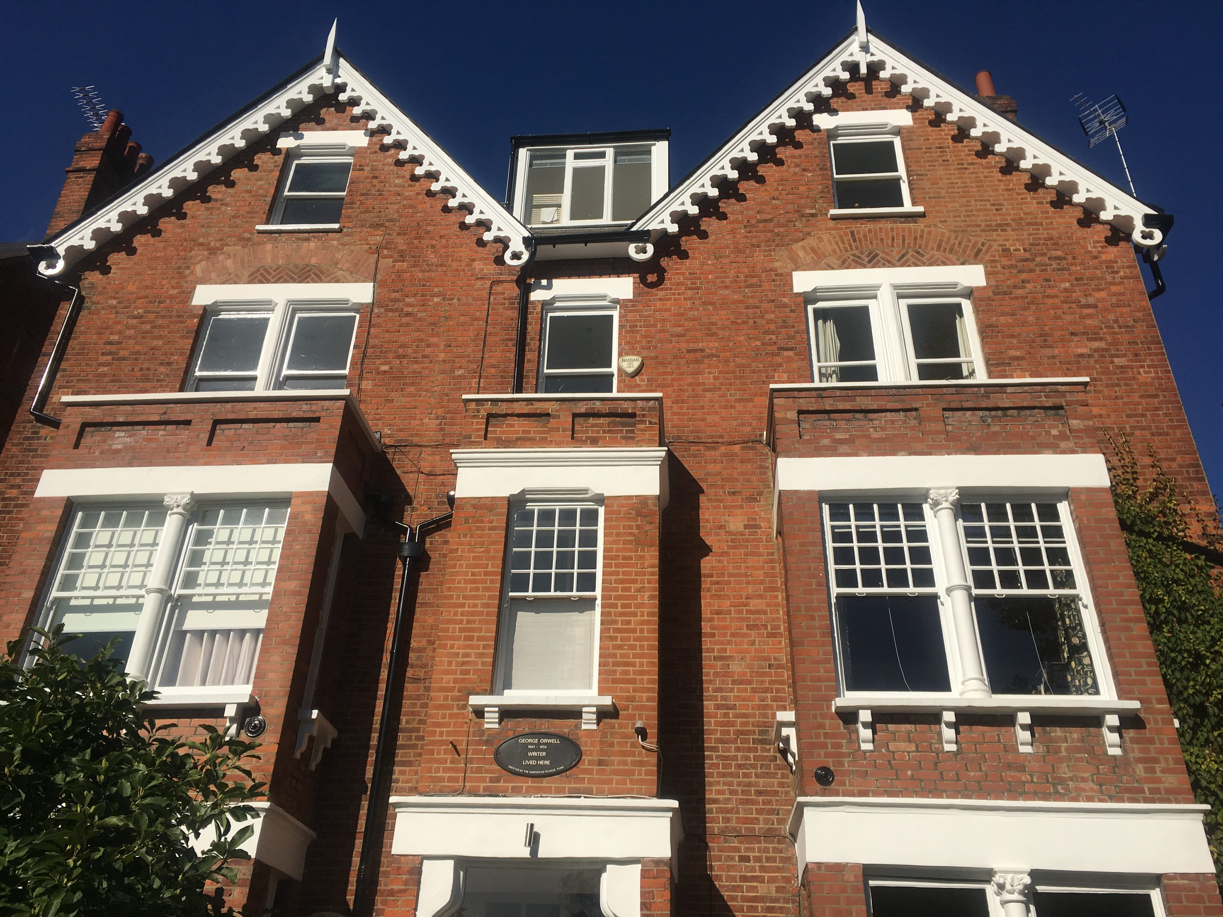 George Orwell lived here - next to Hampstead Heath