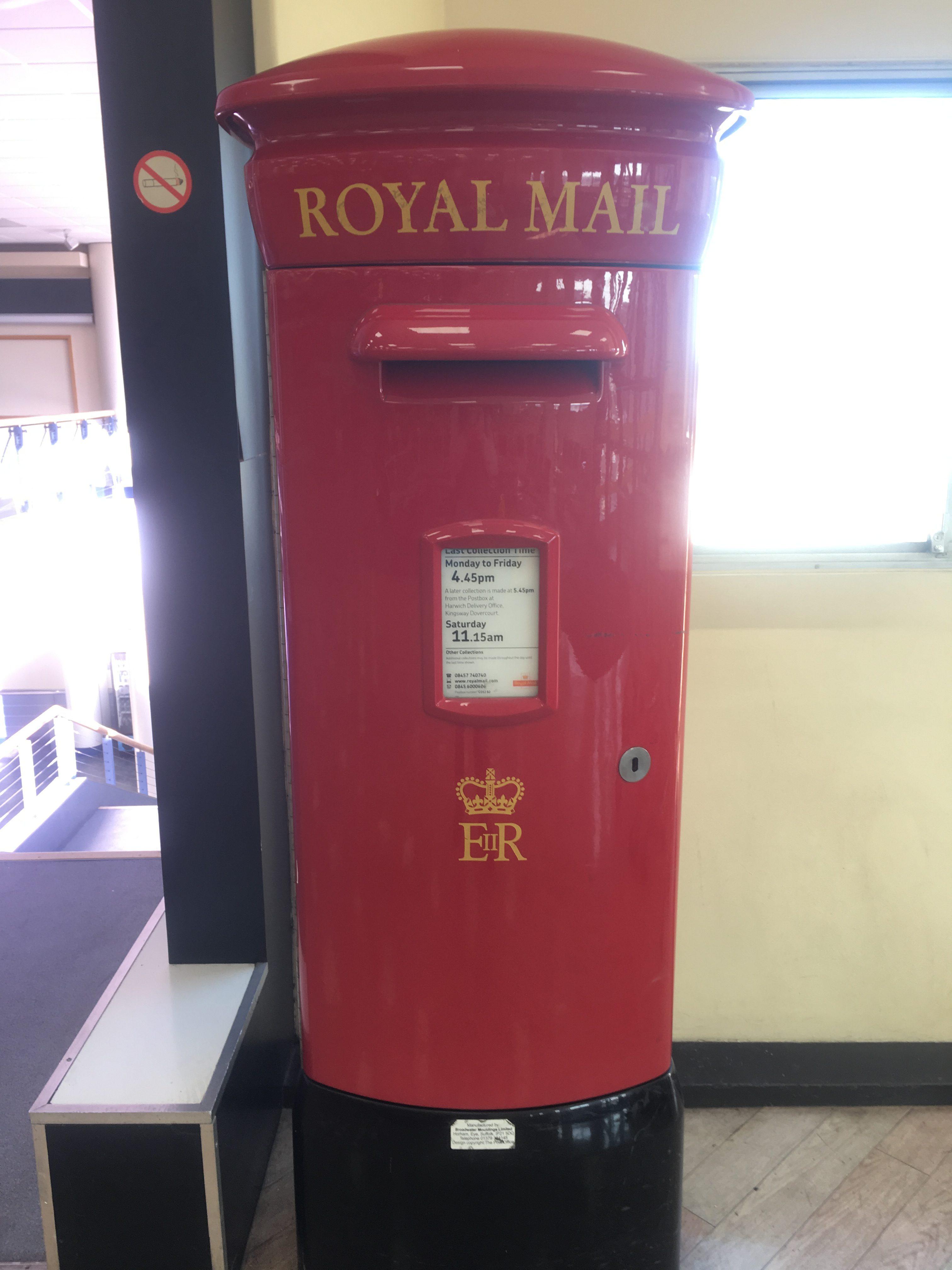 British Royal Mail Box at Harwich Port