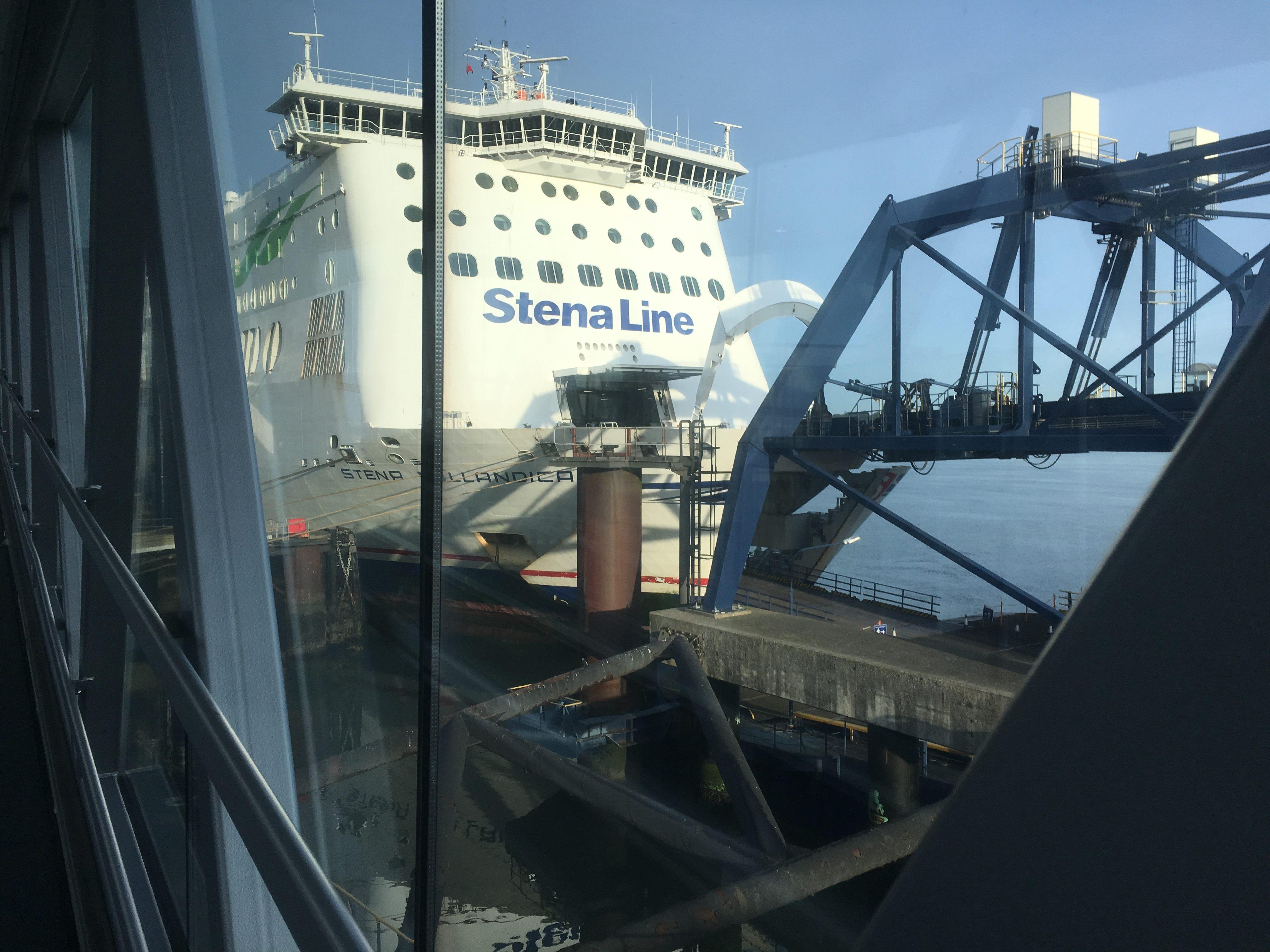 Boarding ferry in Harwich
