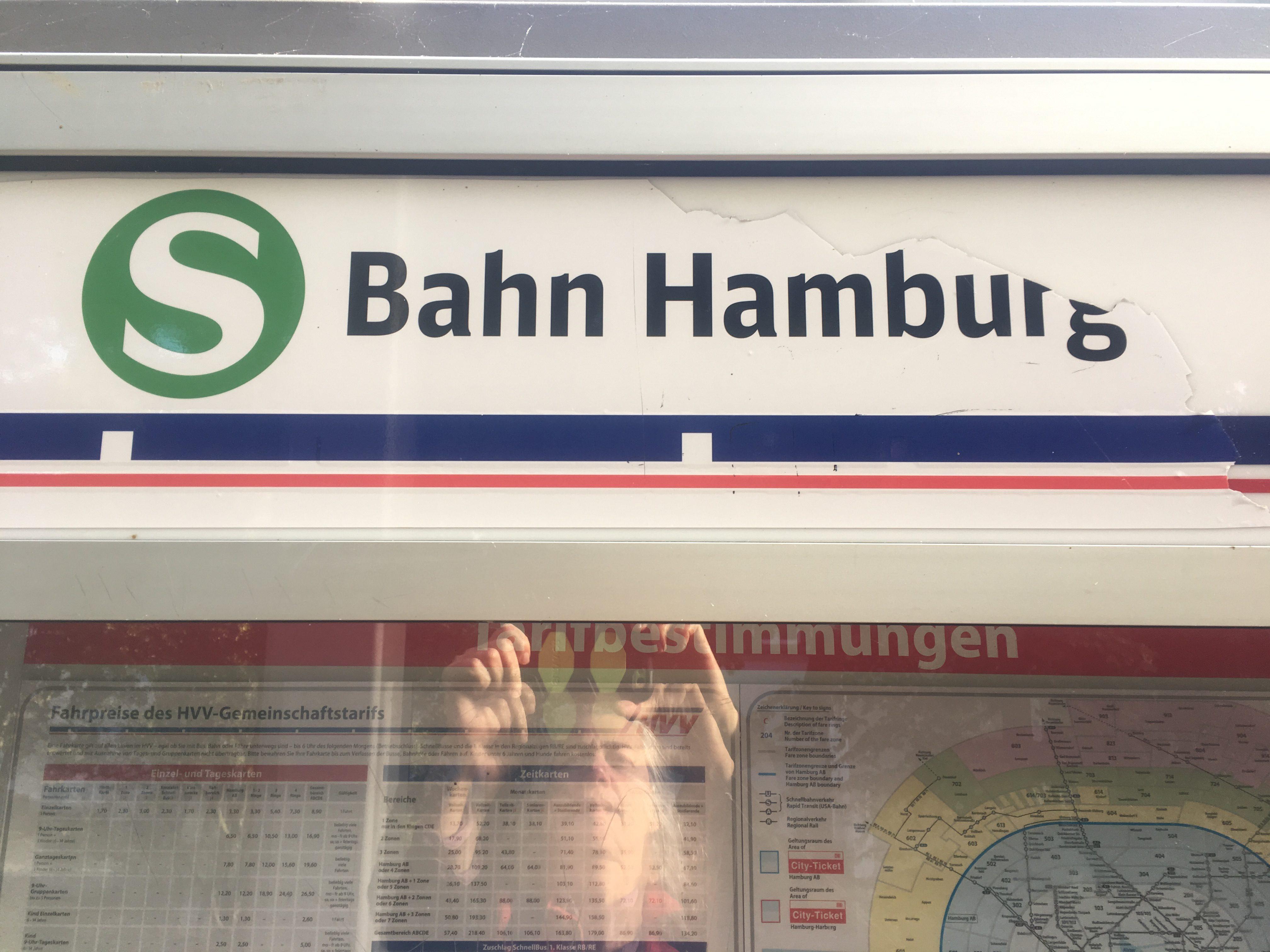 S Bahn Hamburg where i am