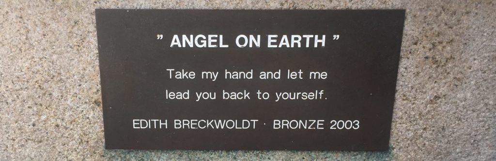 Label for Angel on Earth by Edith Breckwoldt