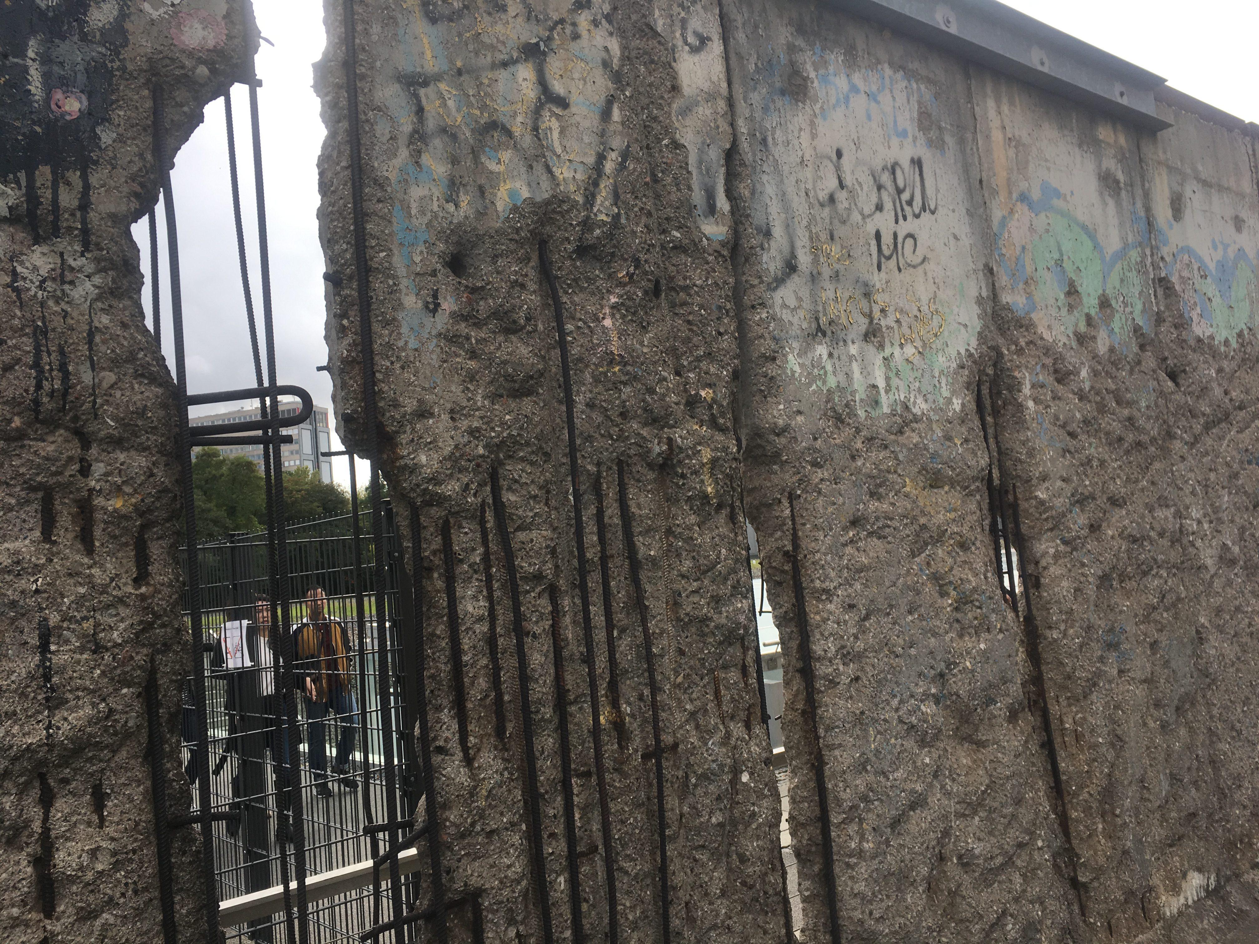 The Berlin wall seems so flimsy now