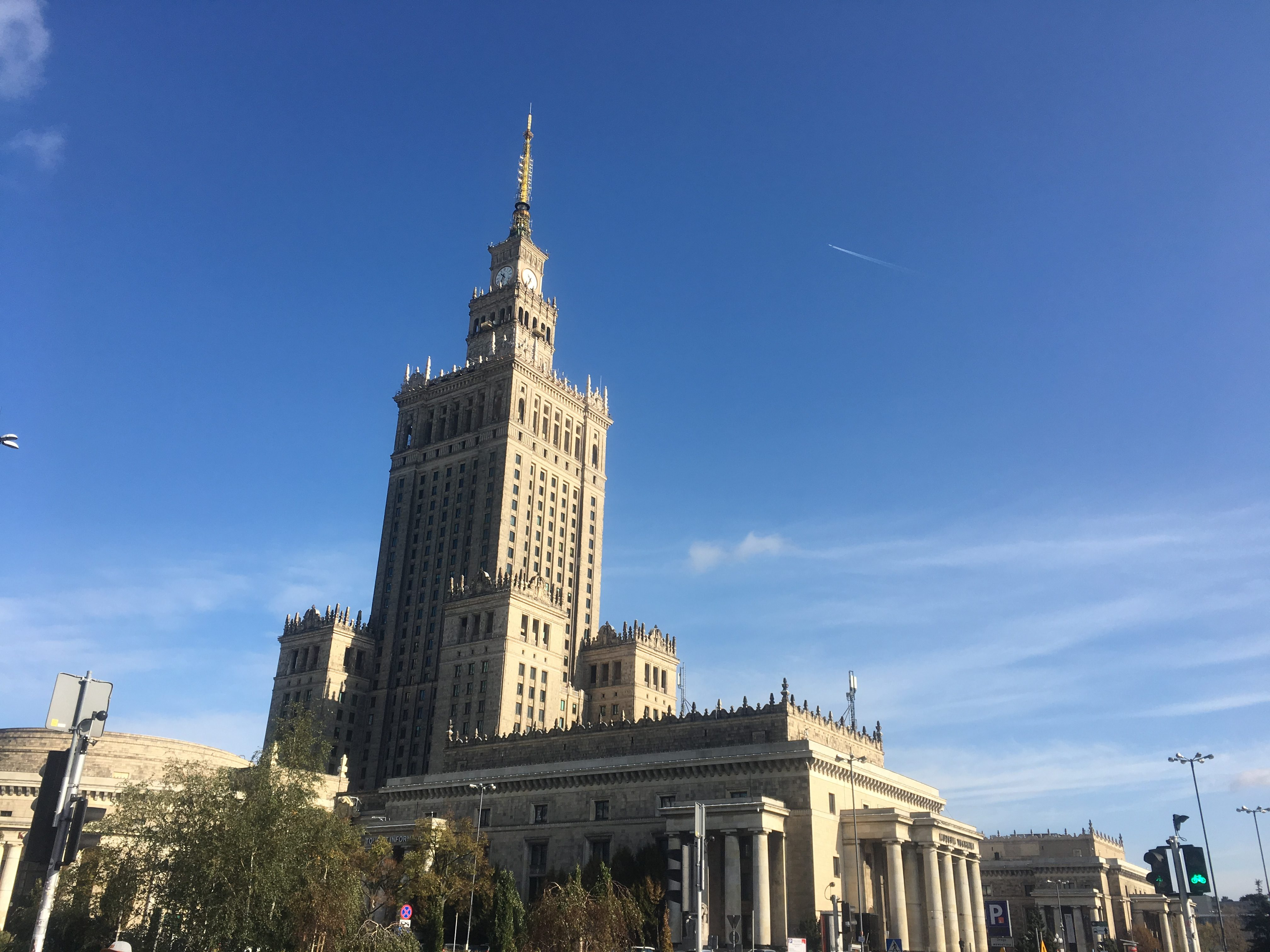 The first thing you see when you get out of Warsaw Central train station