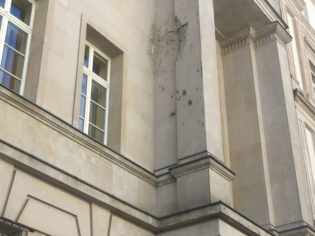 Not repairing bullet damage is a memorial too