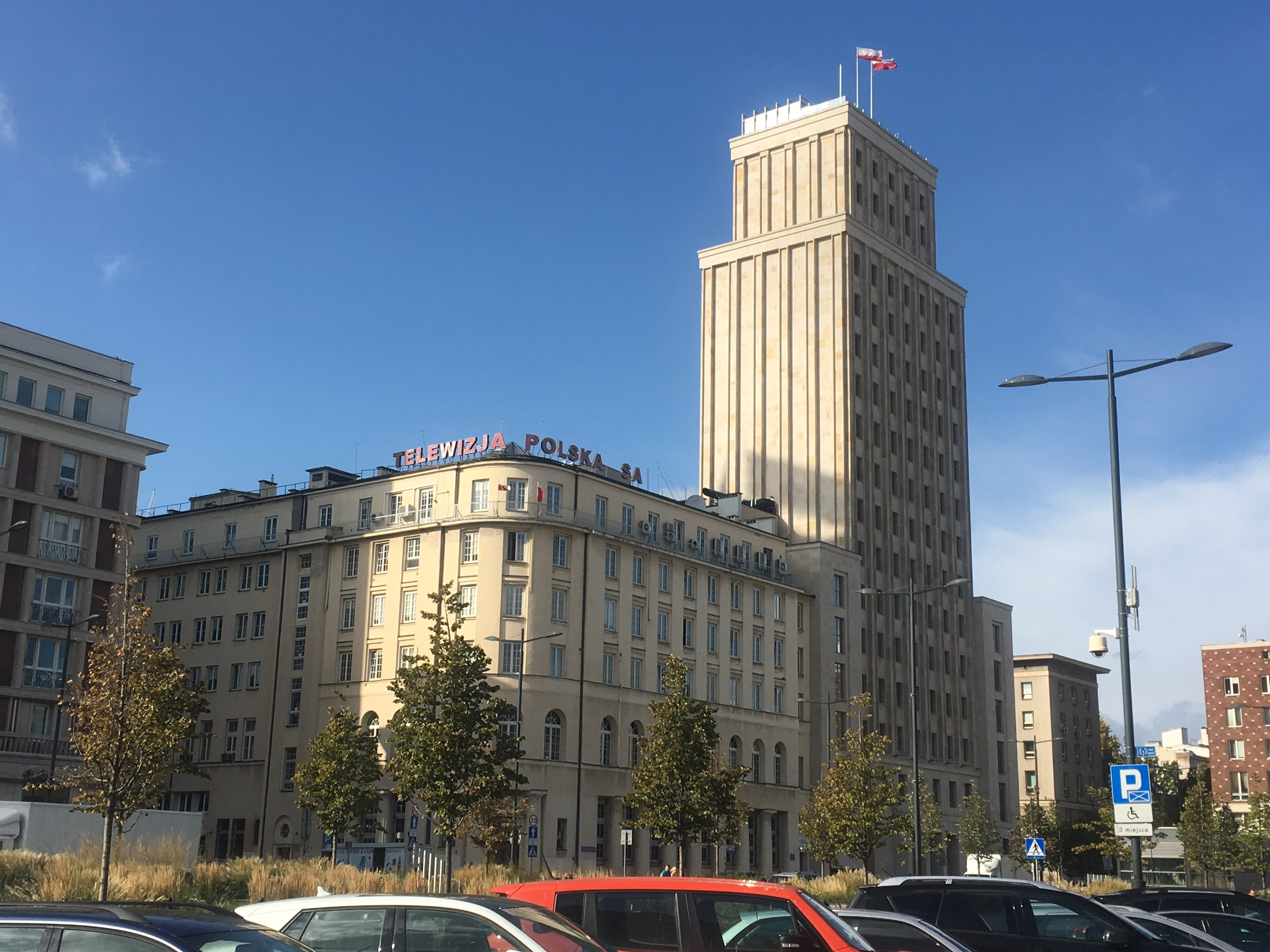 The old Prudential building was blown up by the Nazis