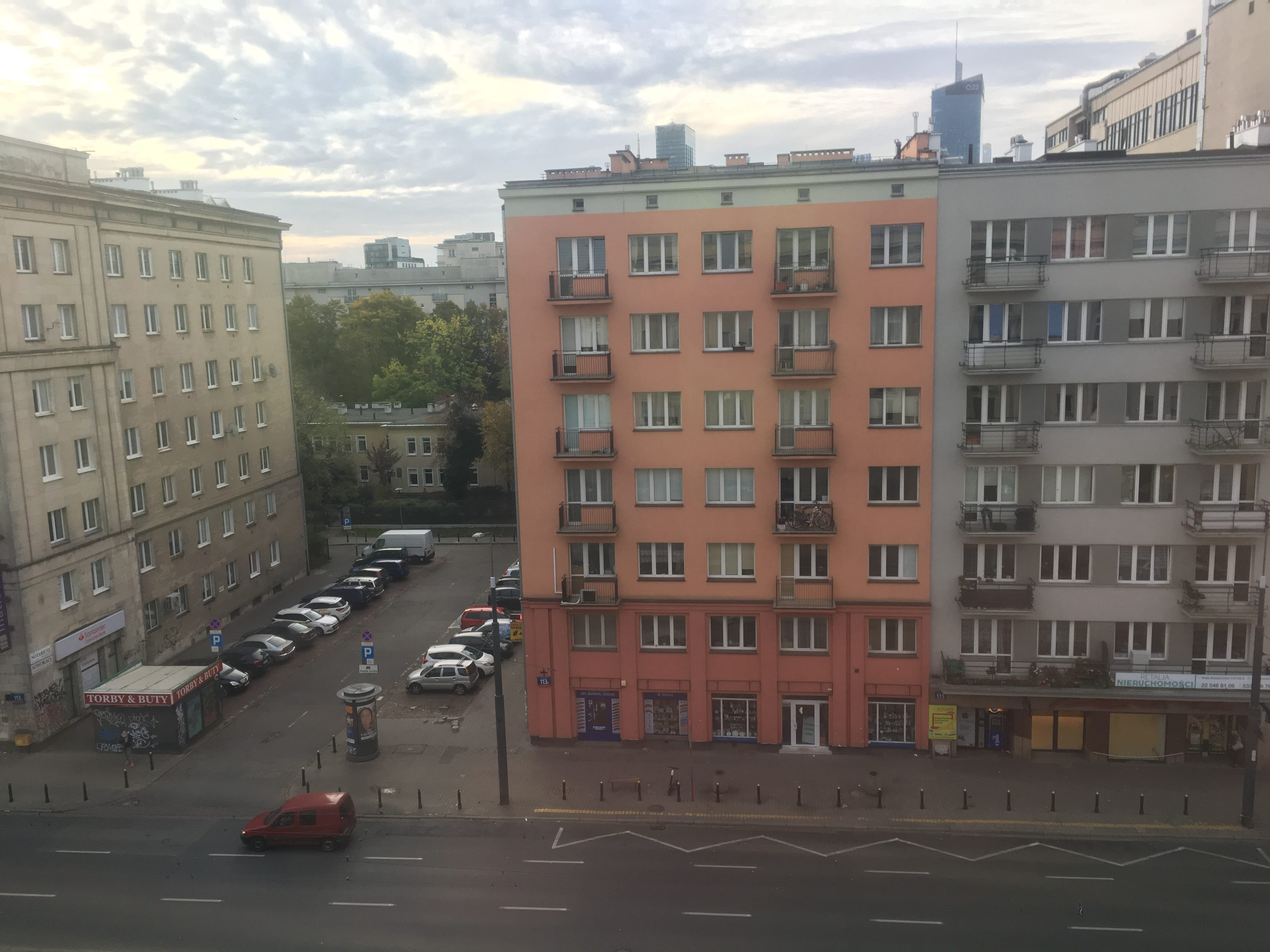 View from Airbnb bedroom Warsaw