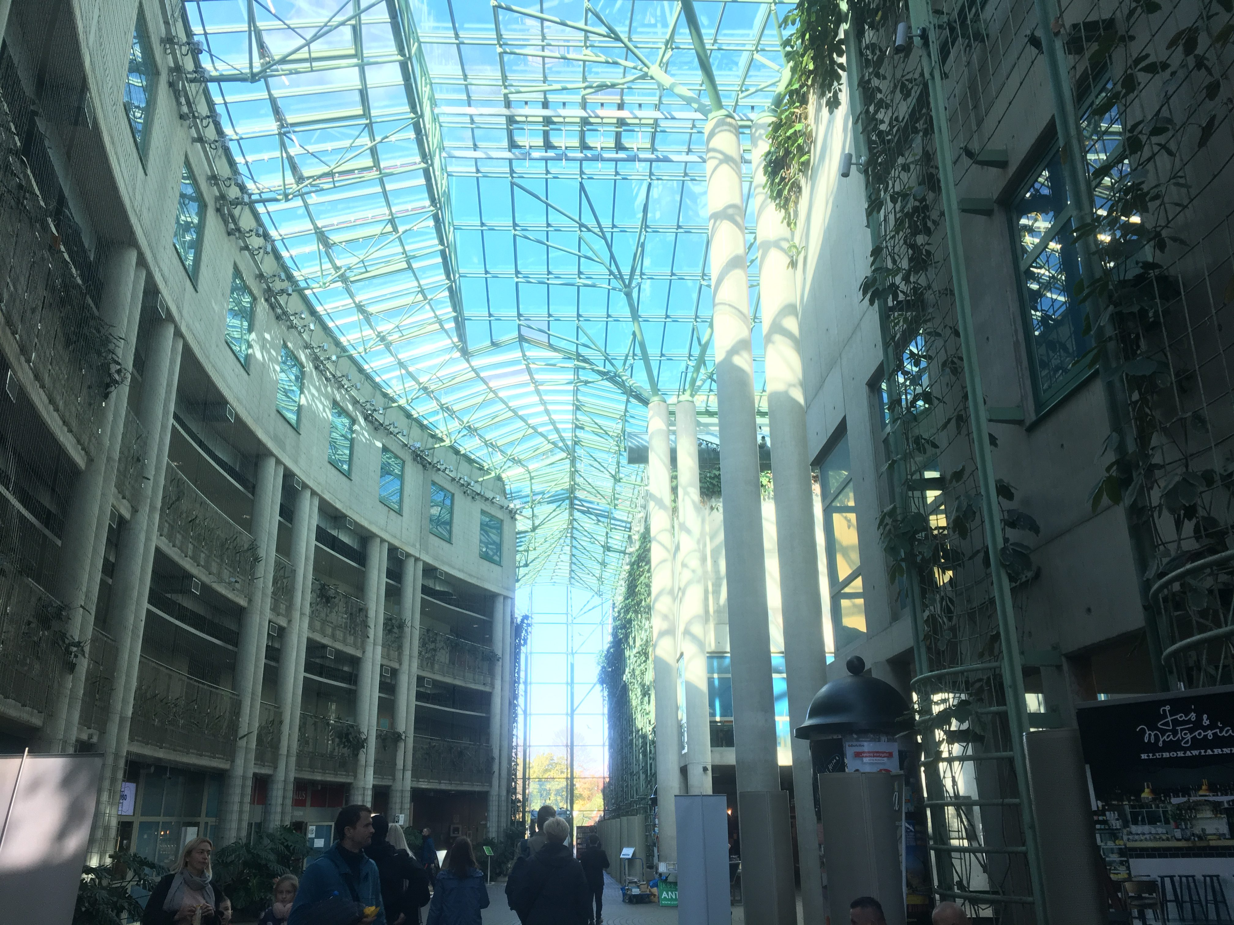 University of Warsaw Library atrium