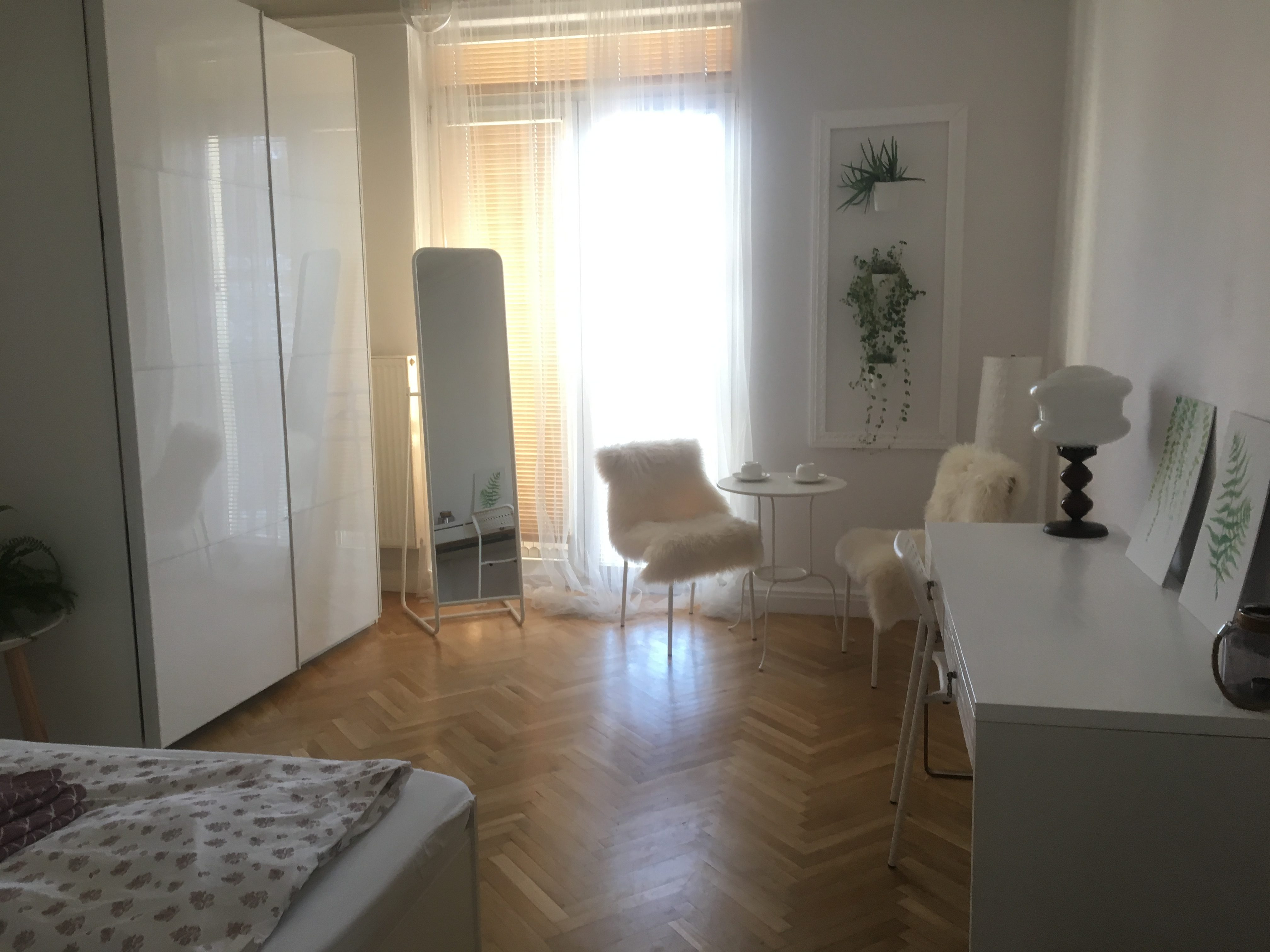 view inside my Warsaw Airbnb