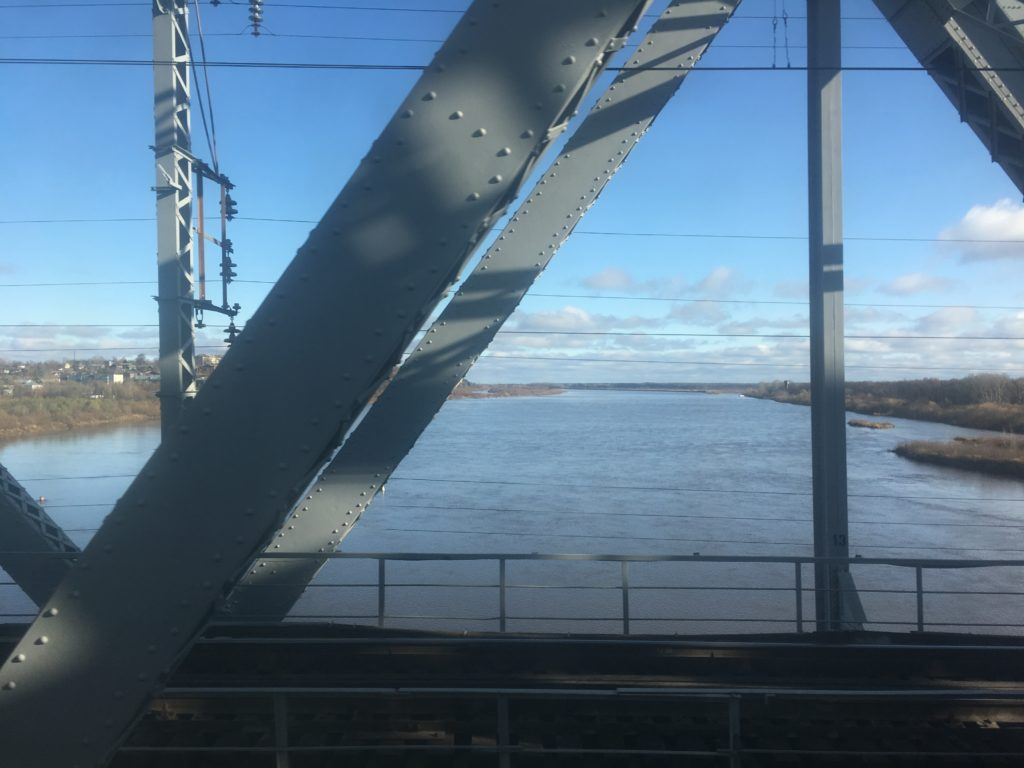 Bridge changes train sounds on the way to Siberia