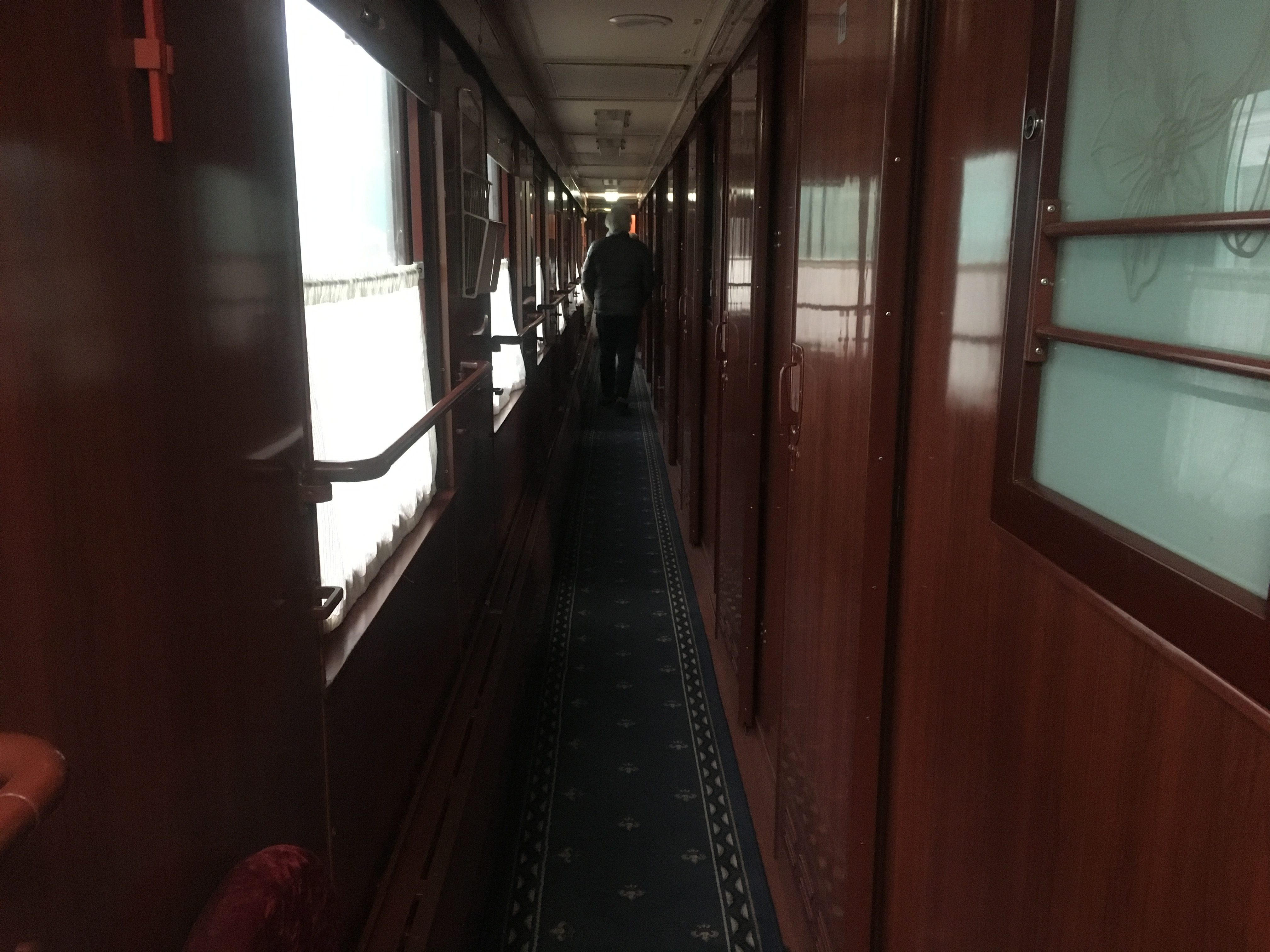 Down the first-class corridor at Omsk