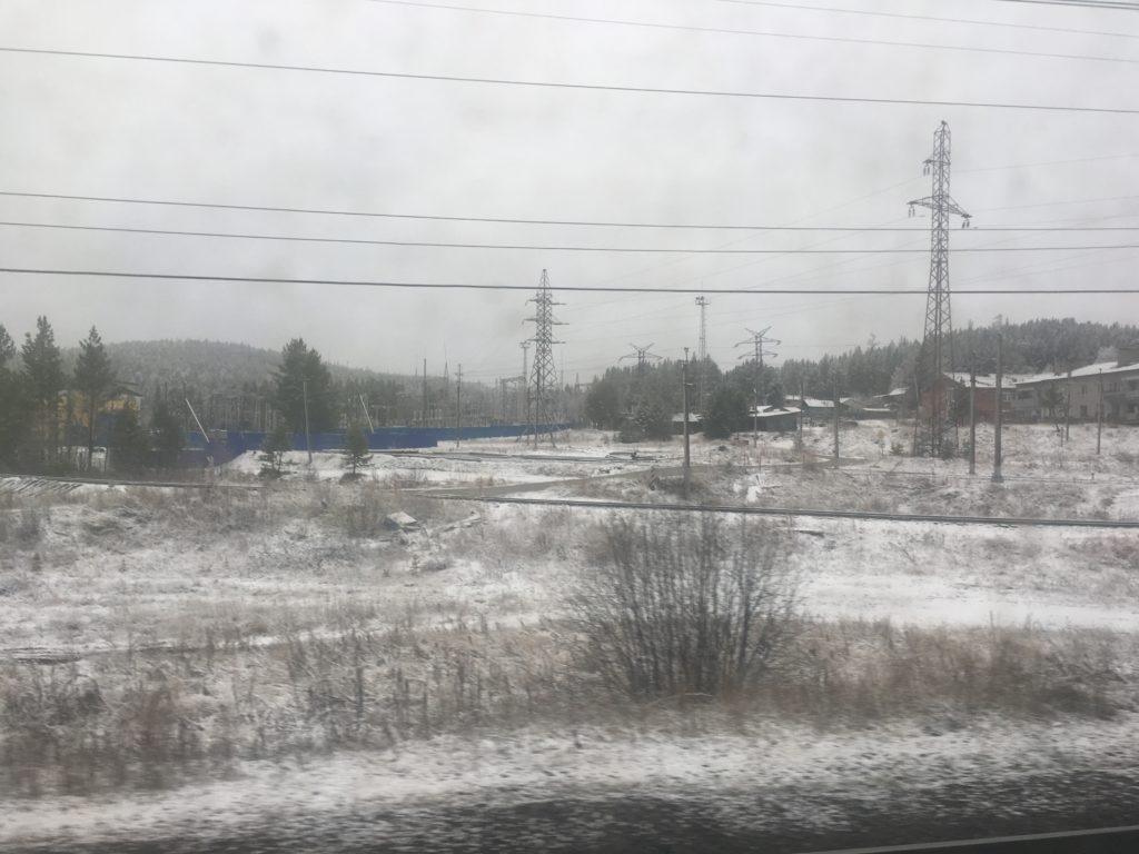 That's more like real snow in Irkutsk