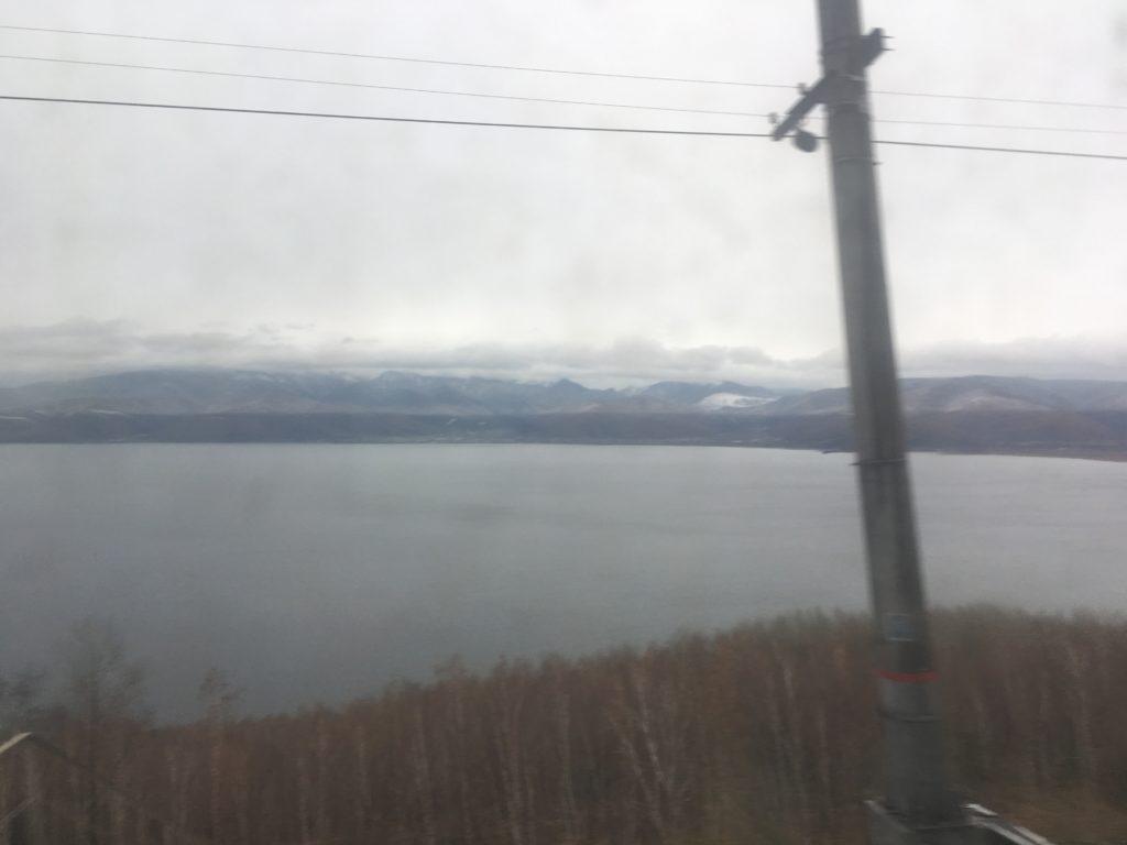Passing Lake Baikal