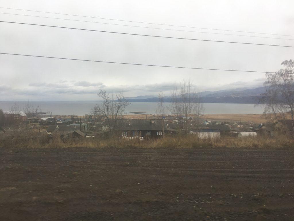 In winter Lake Baikal freezes