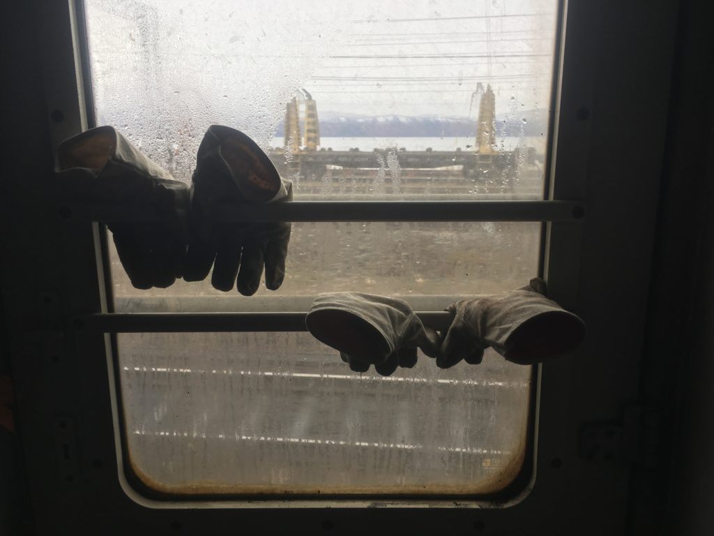 Gloves hanging out at Slyudyanka