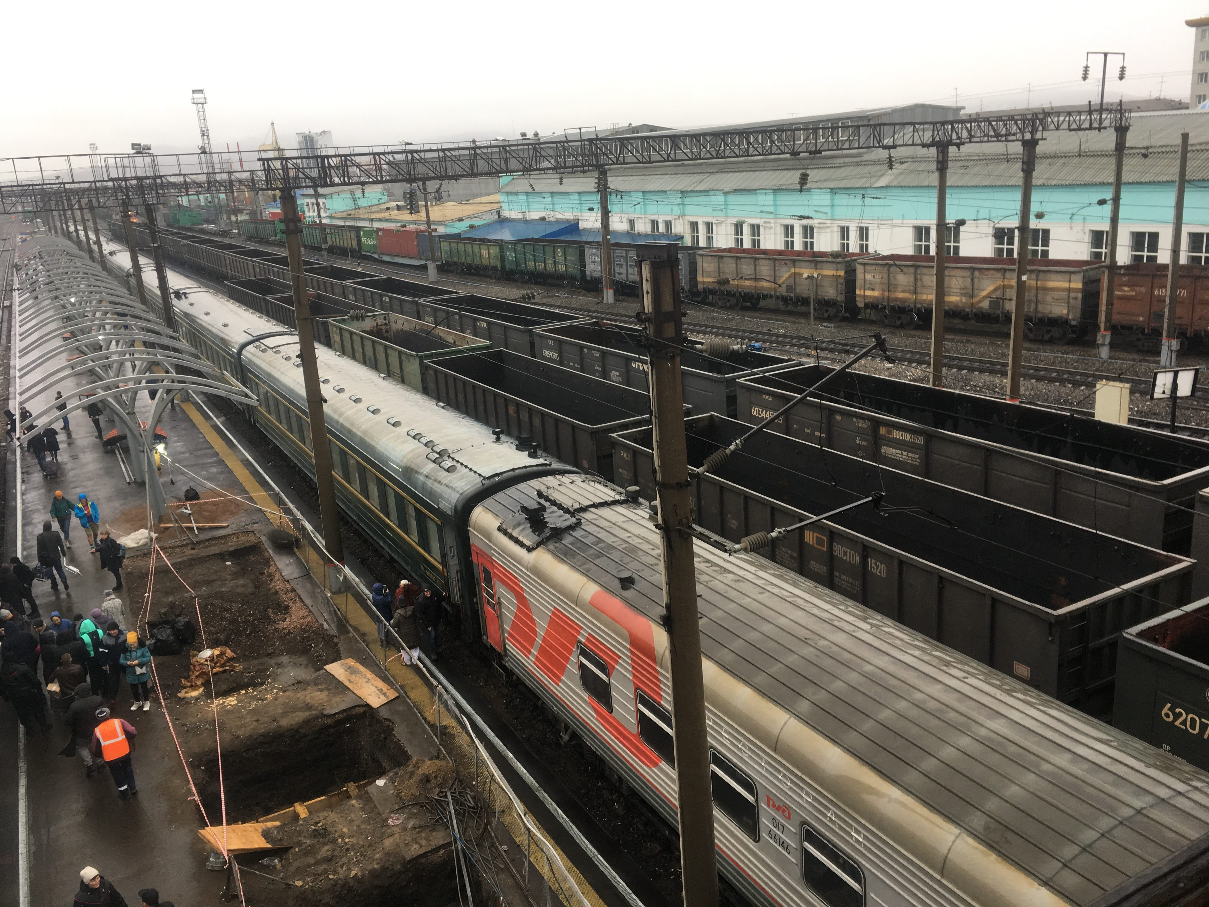 Our train parked at Ulan-Ude station