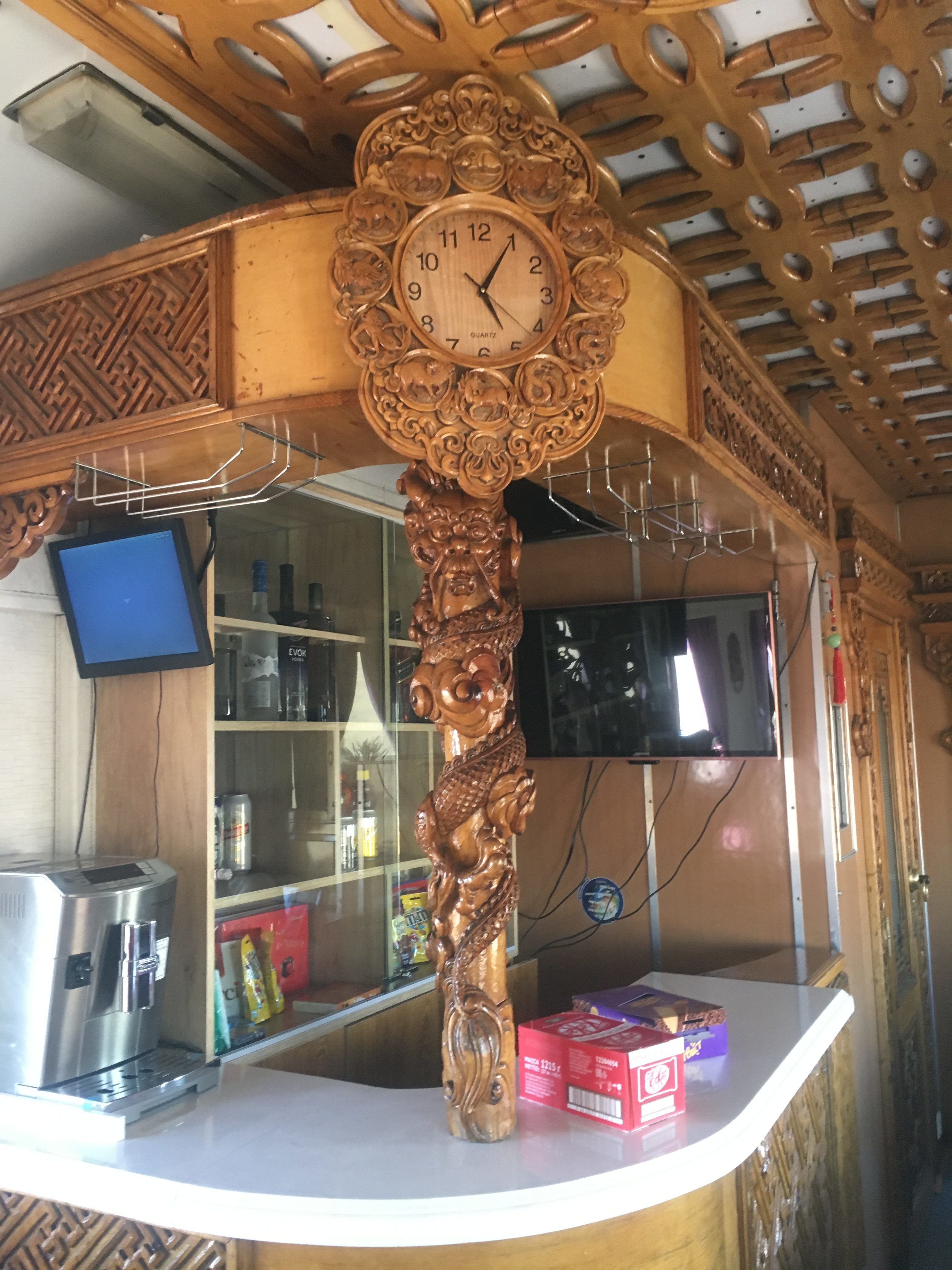 Mongolian restaurant car took the time seriously