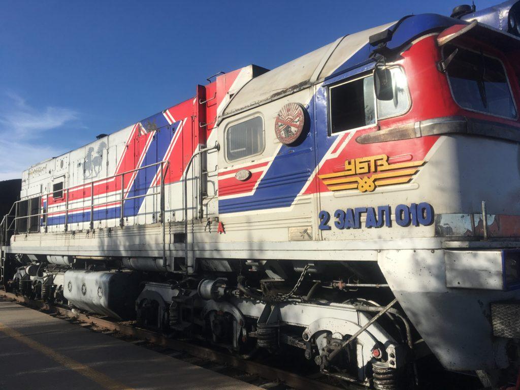 Mongolian locomotive Dorngovi stop