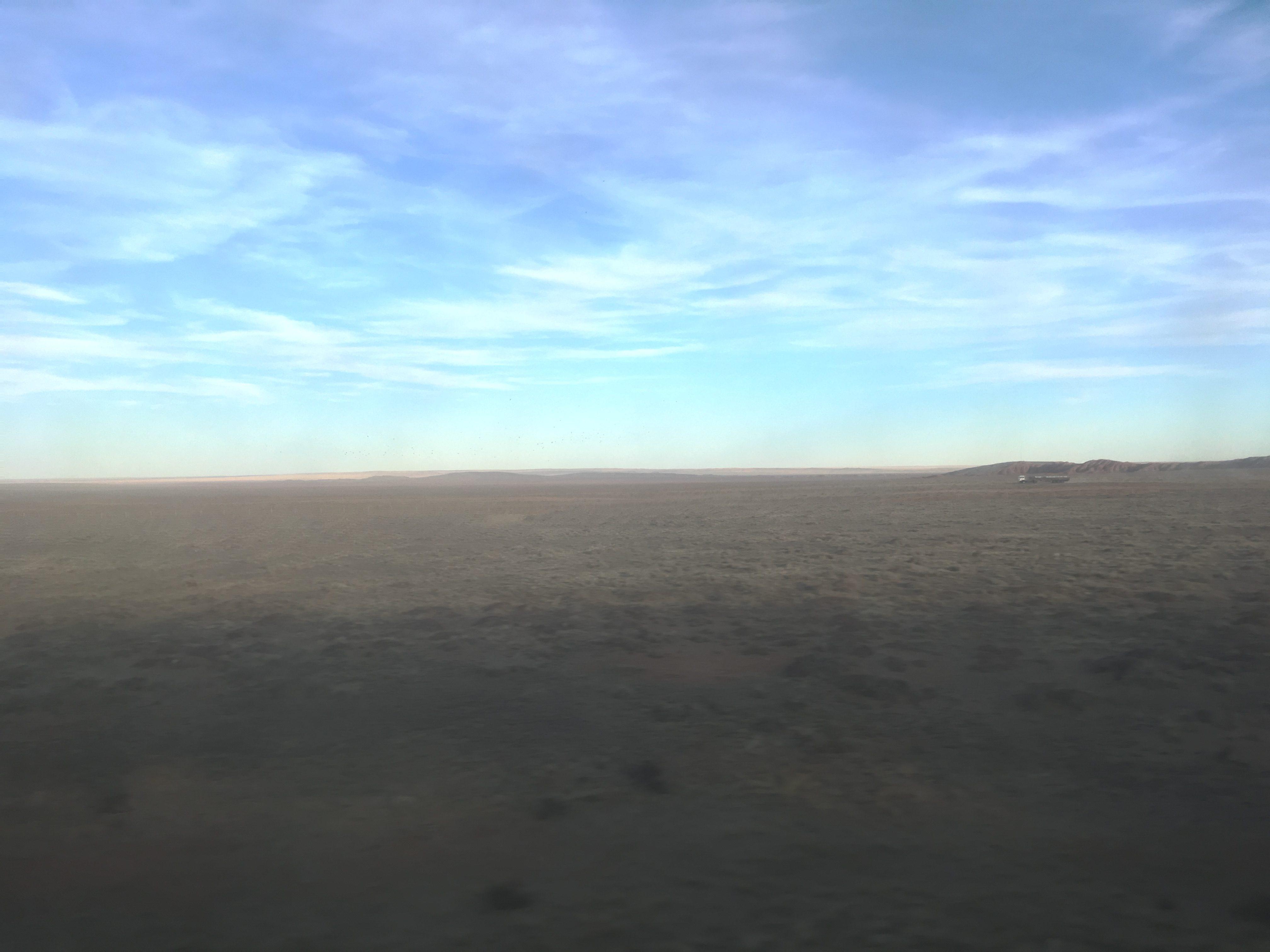 Mongolian sky over Dornogovi