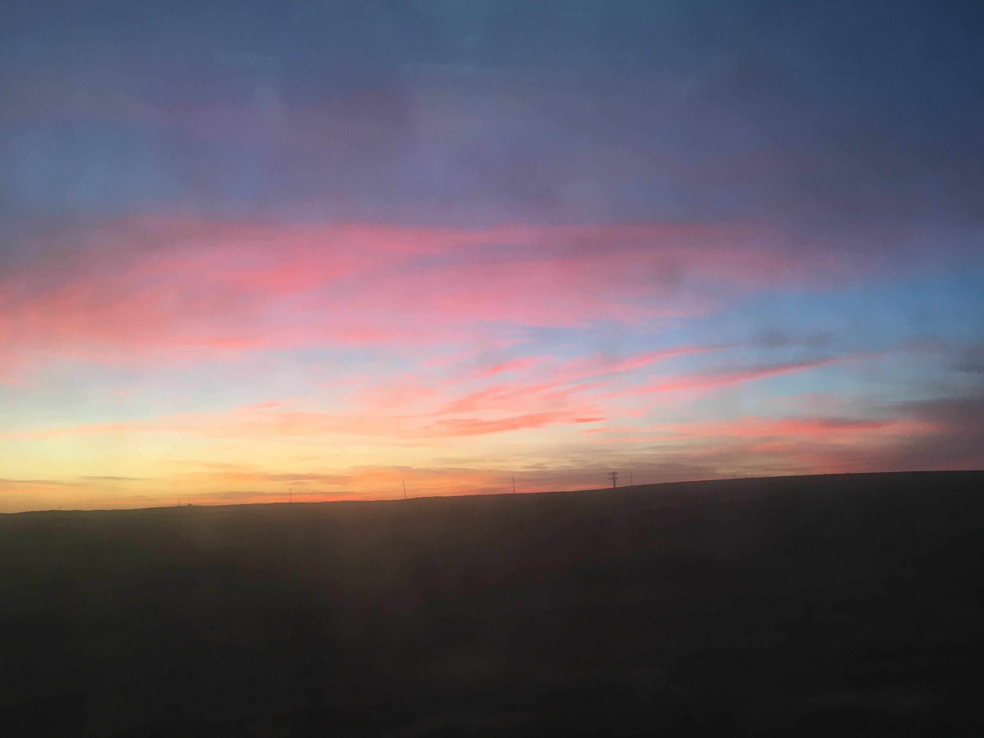 Sunset over Dornogovi - Mongolia