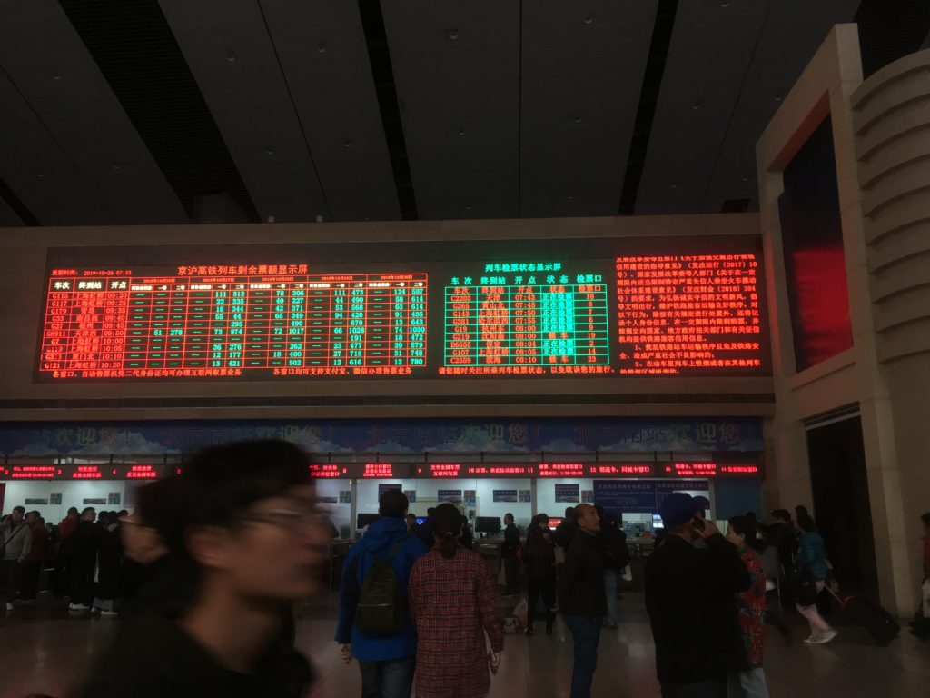 Beijing South Railway Station departures and arrivals