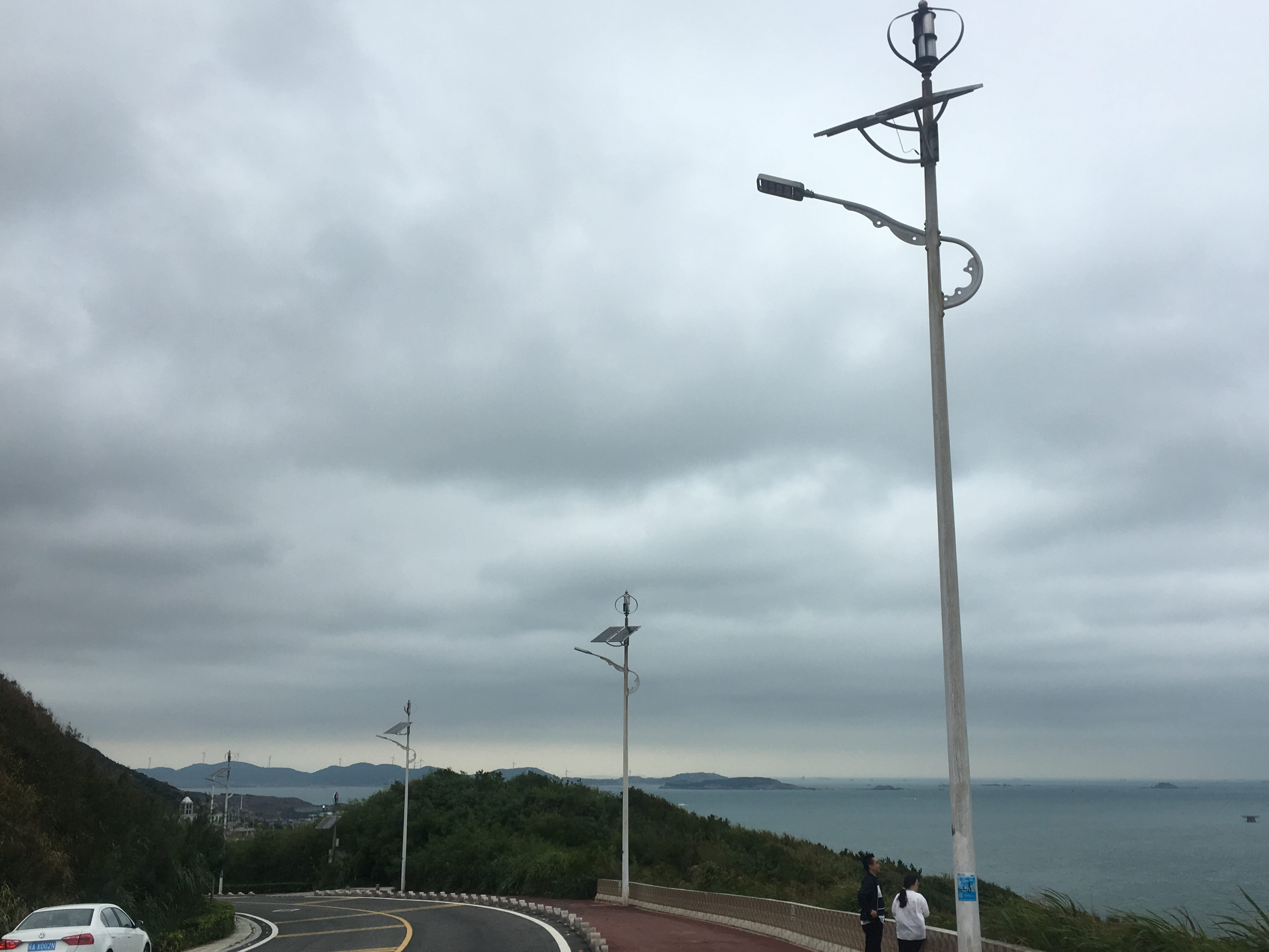 Not just solar but also wind twirlers to generate power for the lights