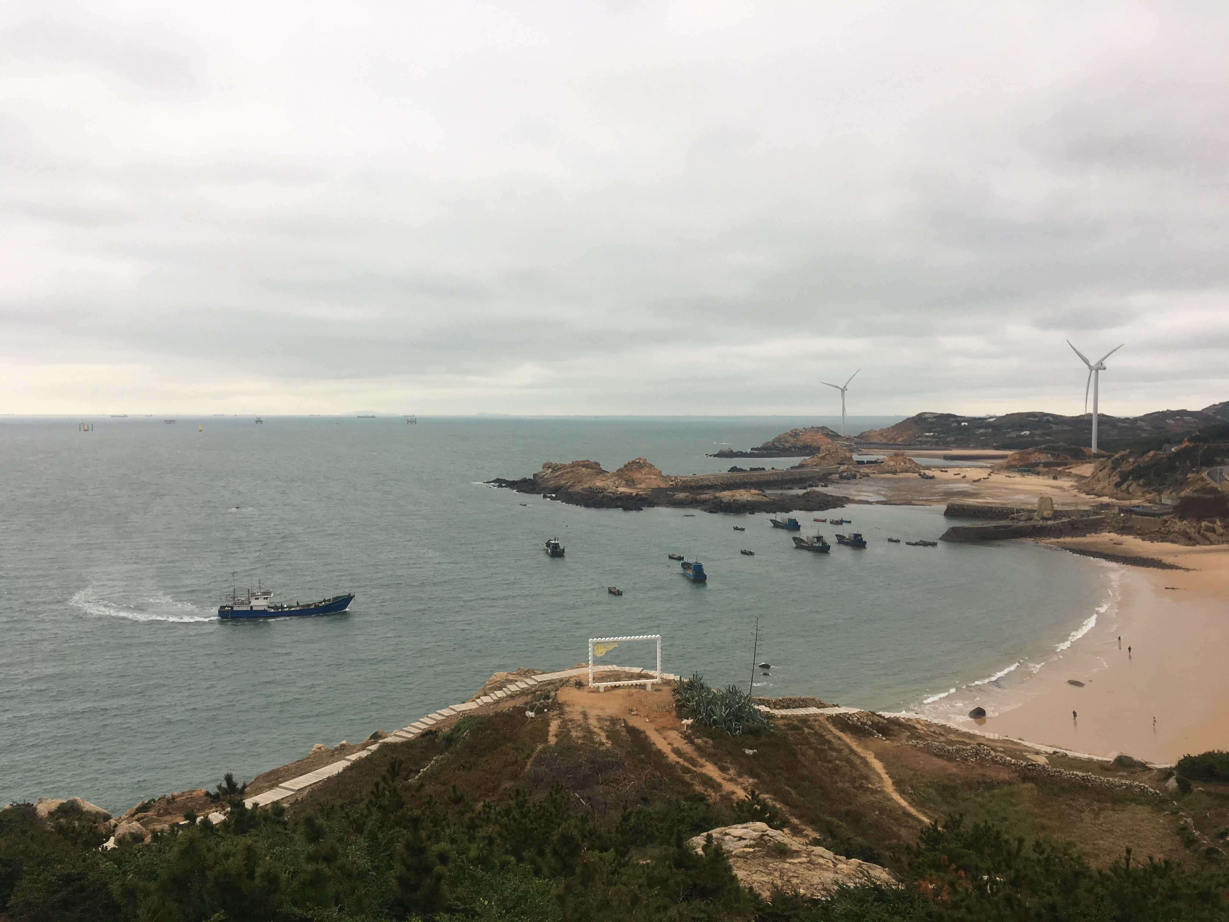 Beauty spot on coast of PIngtan Island