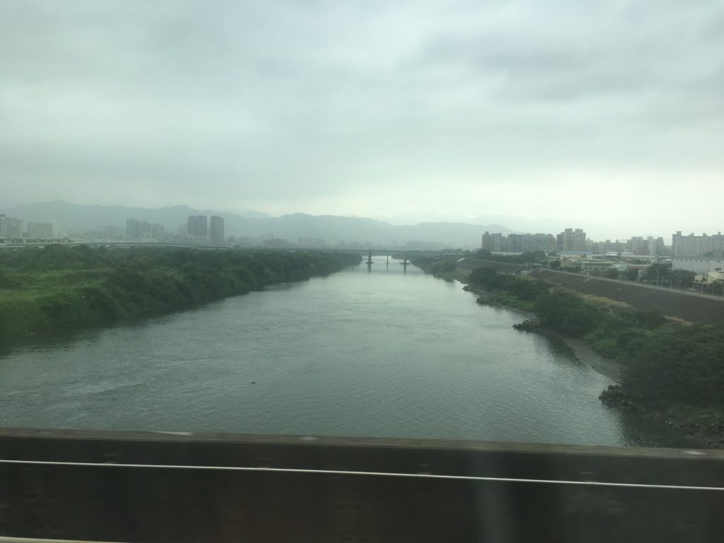Leaving Taipei on the fast train