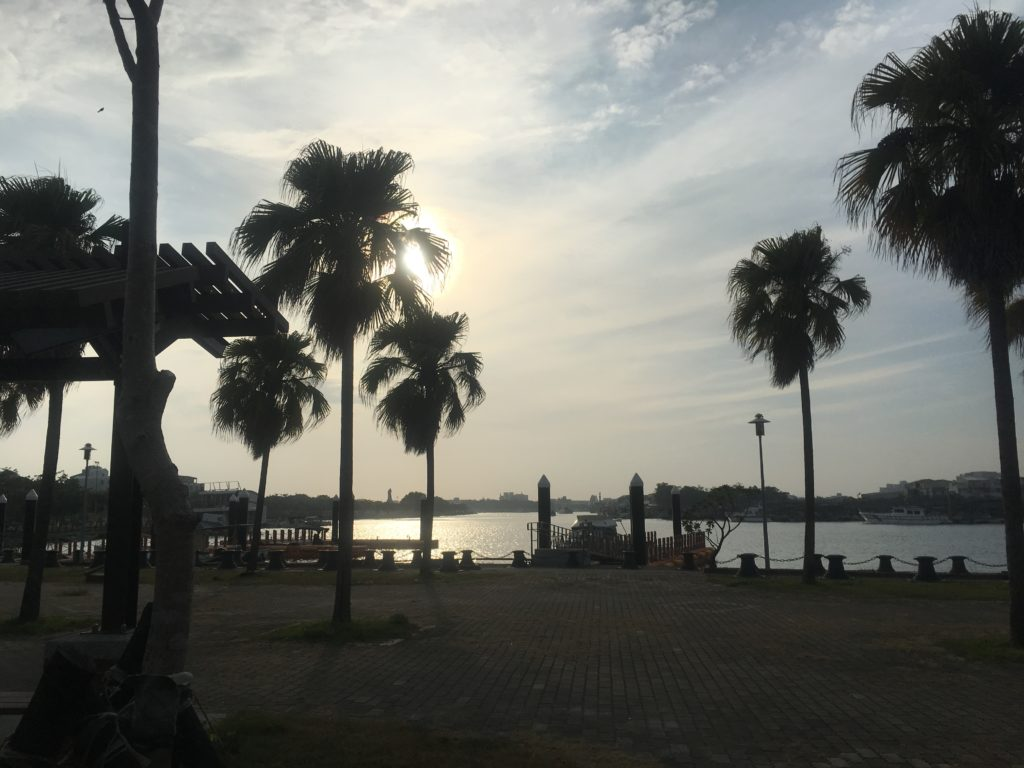 Tainan Harbour near bus stop