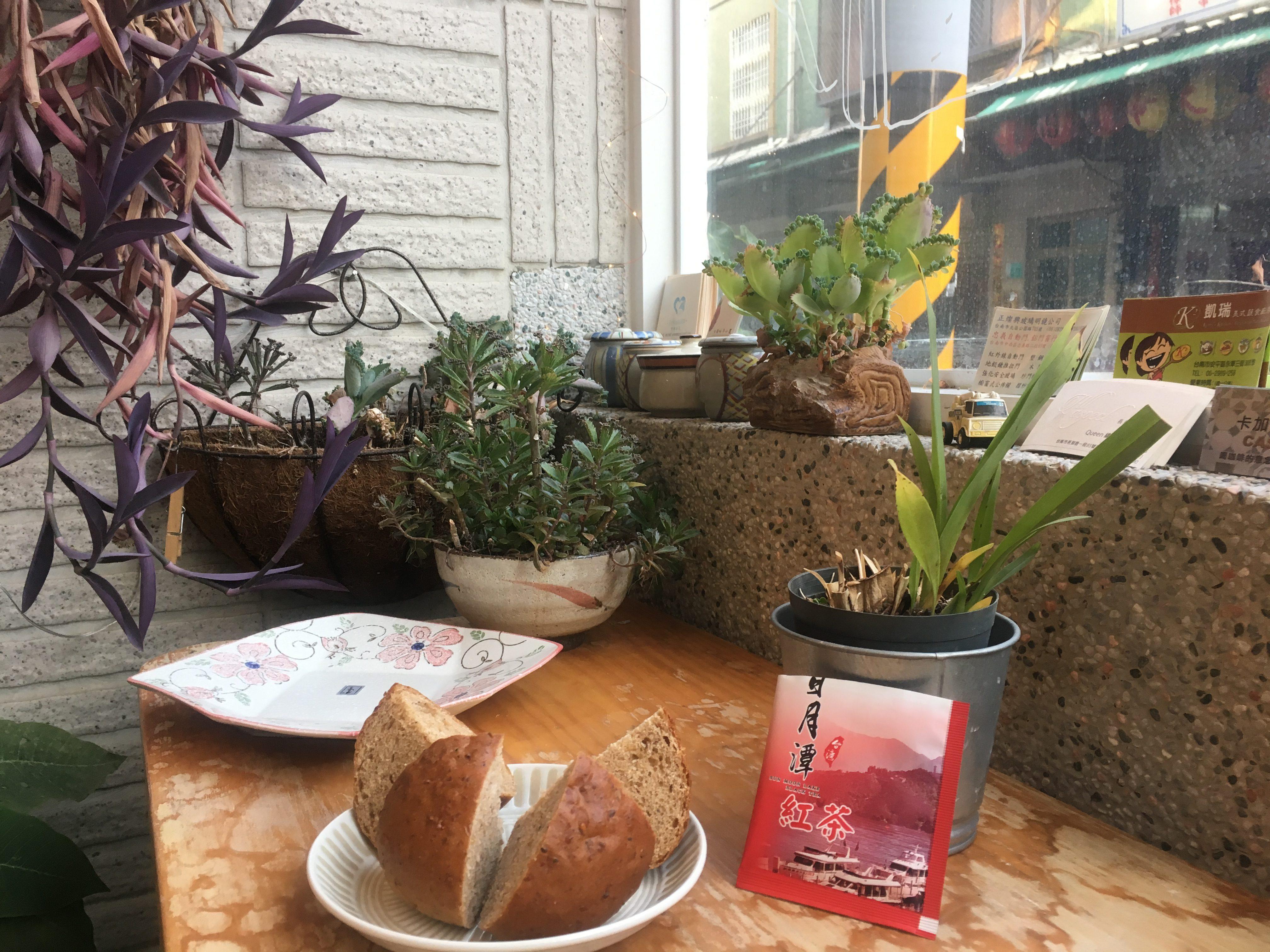 Special Taiwanese tea and malt bun at vegan bakery, Tainan