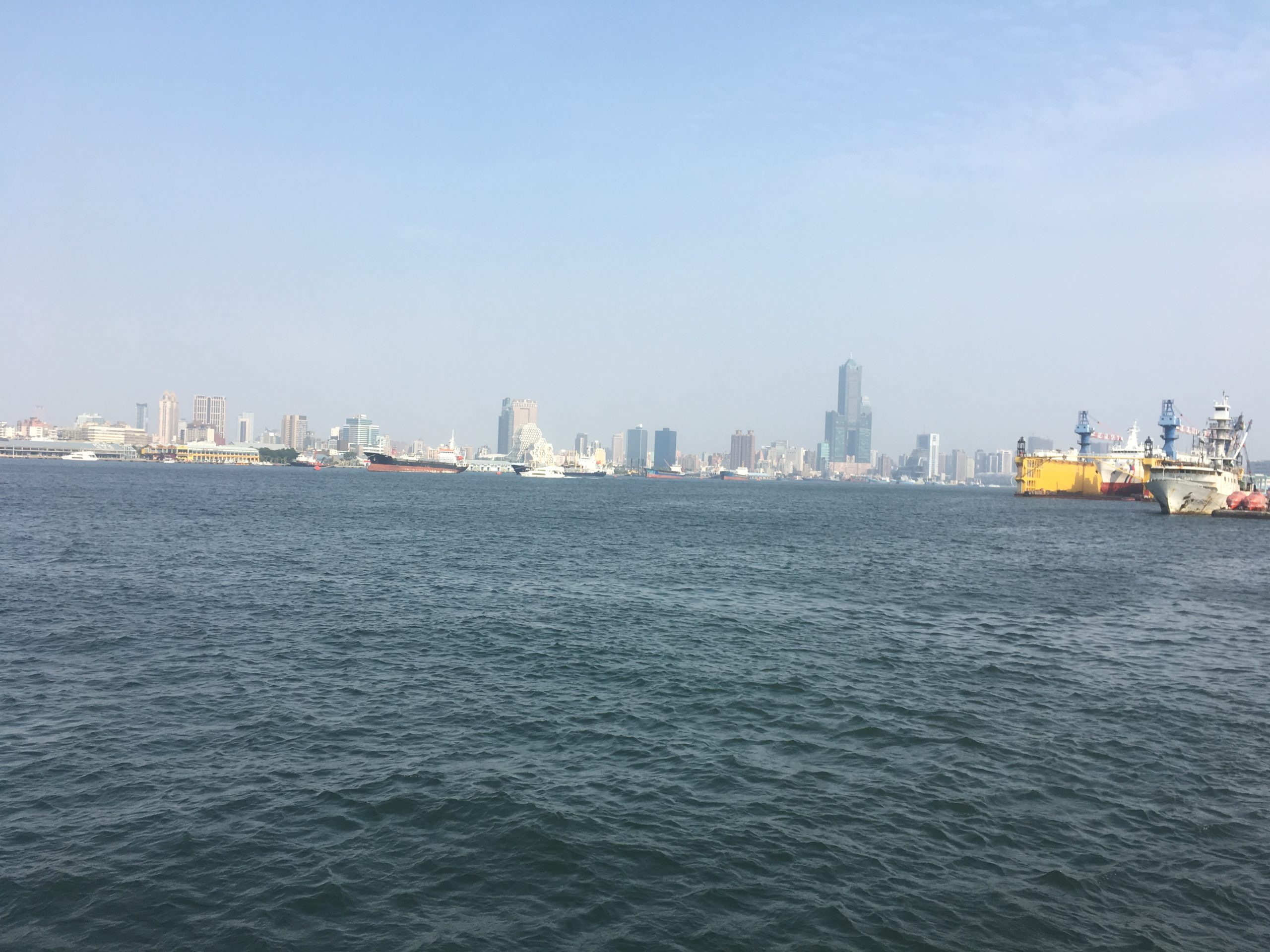 Kaohsiung Harbour from Cijin ferry