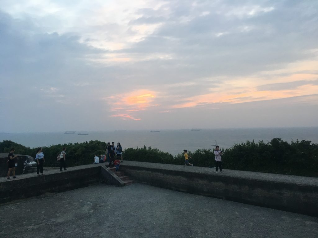 Cihou Fort attracts many sunset photographers