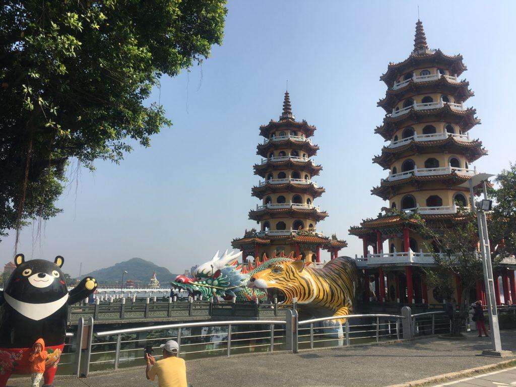 Tiger and Dragon towers at Lotus Pond