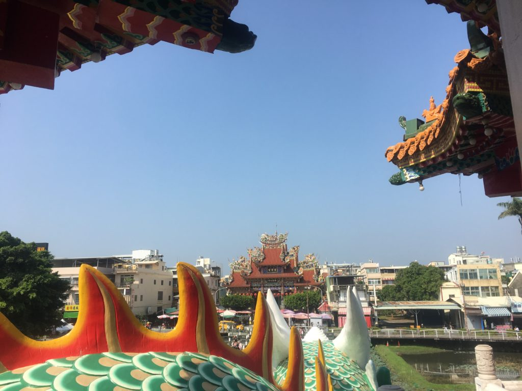 The back of the dragon at the towers, Lotus Pond, Kaohsiung
