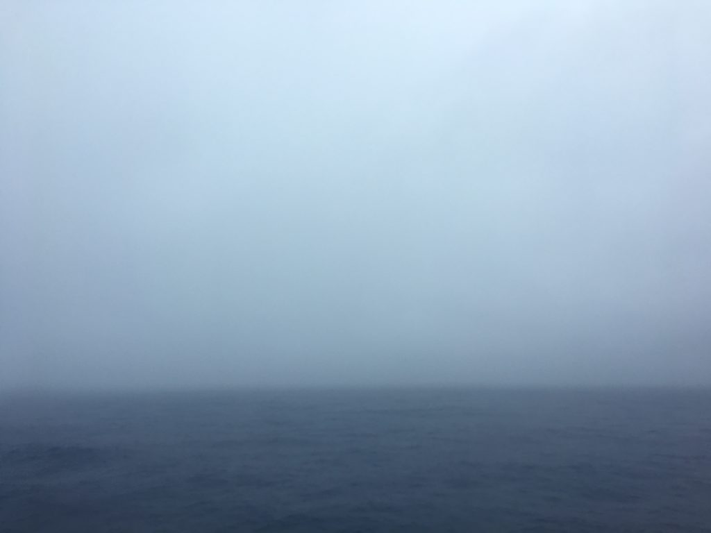 Misty morning in the Philippine Sea