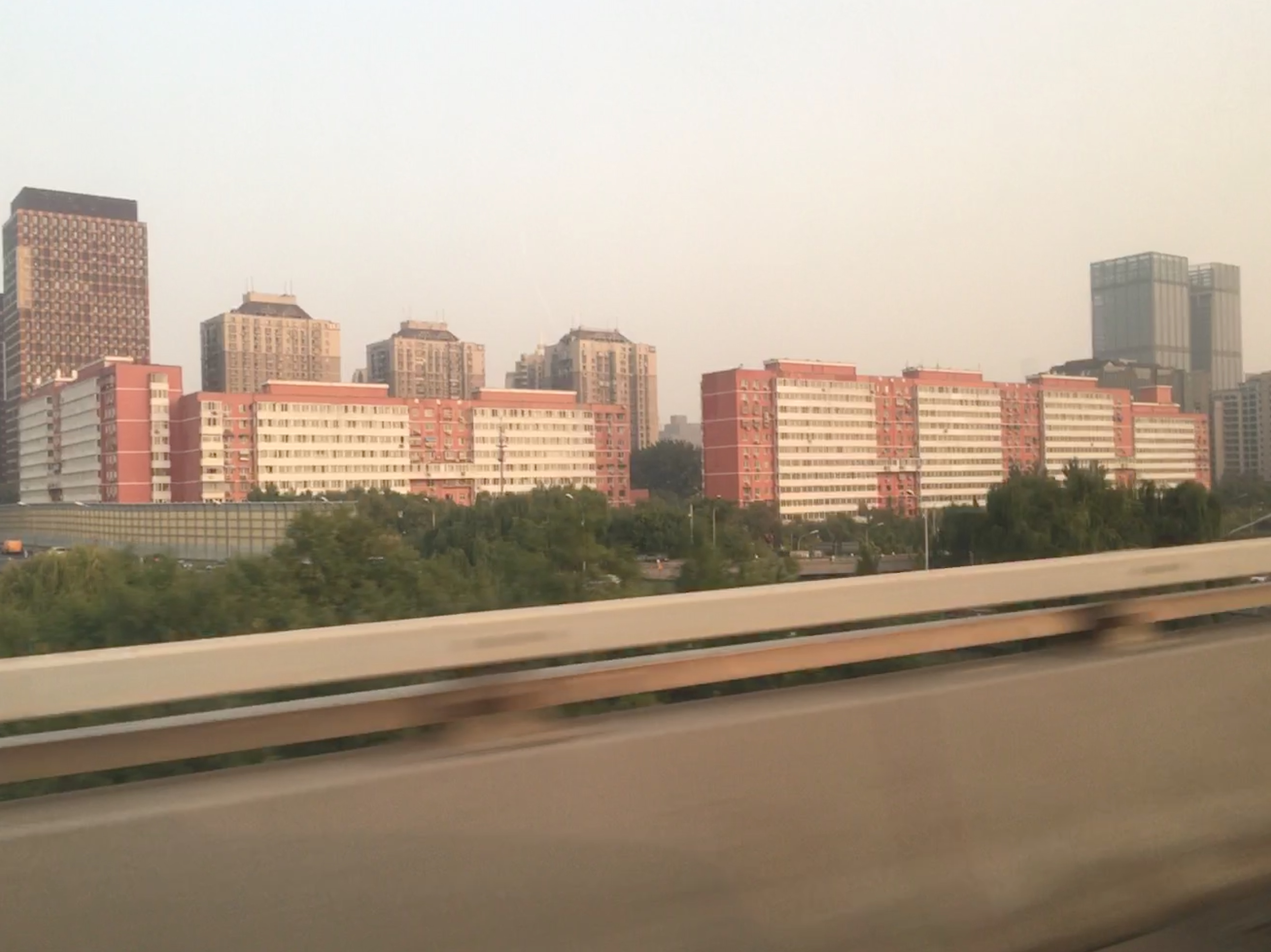 Returning to Beijing. The air quality has dropped a little!