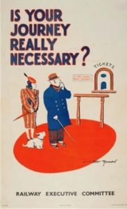 Railway poster from WWWII