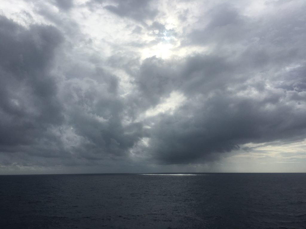 Philippine Sea dramatic clouds