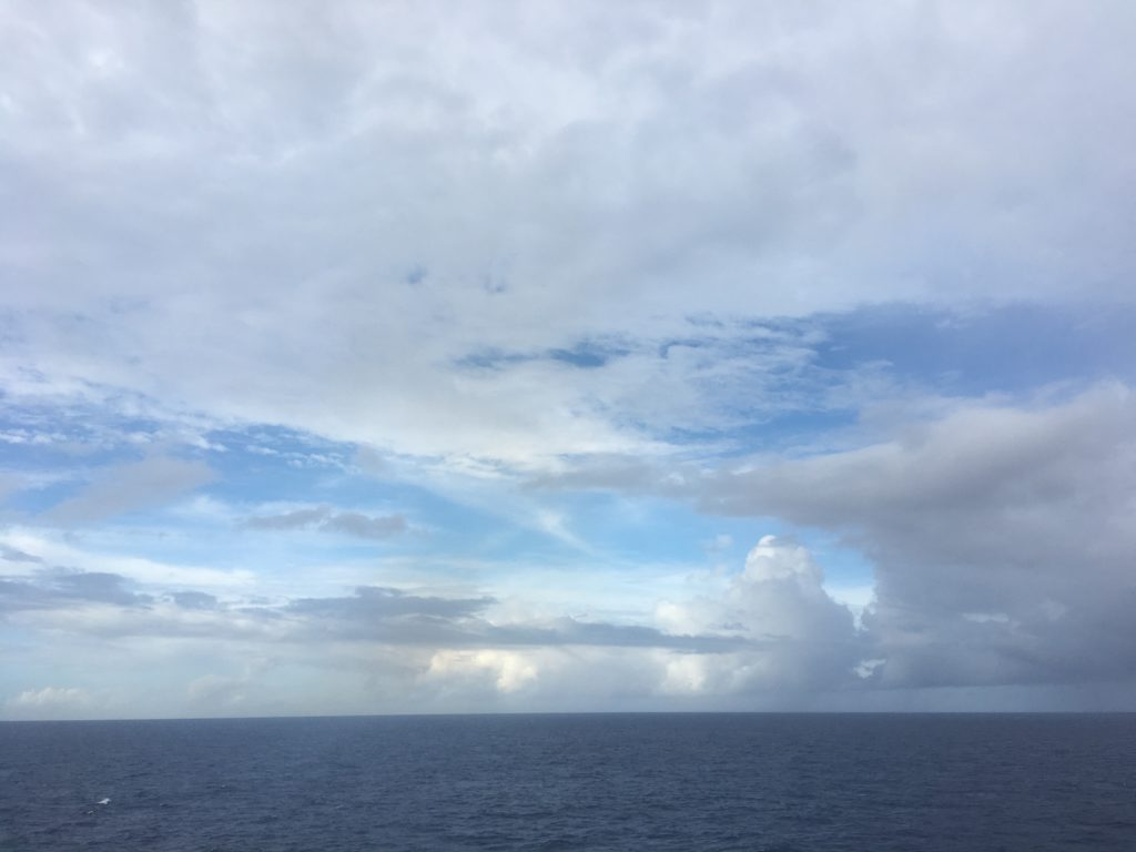 Philippine Sea glimpse of blue ahead