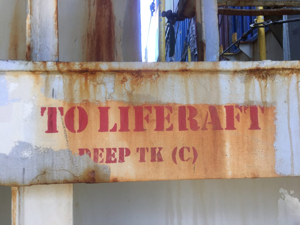 to the liferaft CC Coral