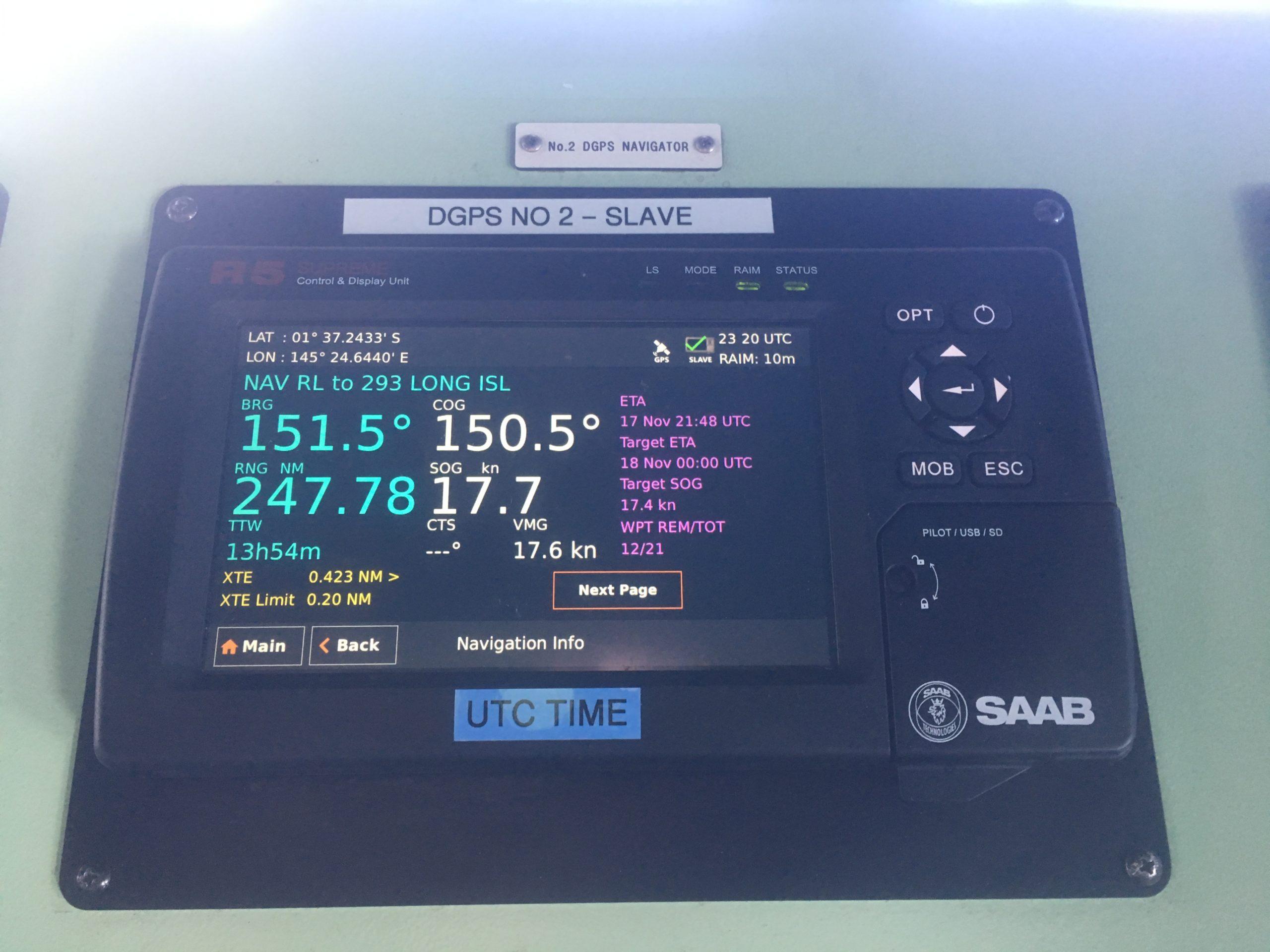 CC Coral at 17.7 knots