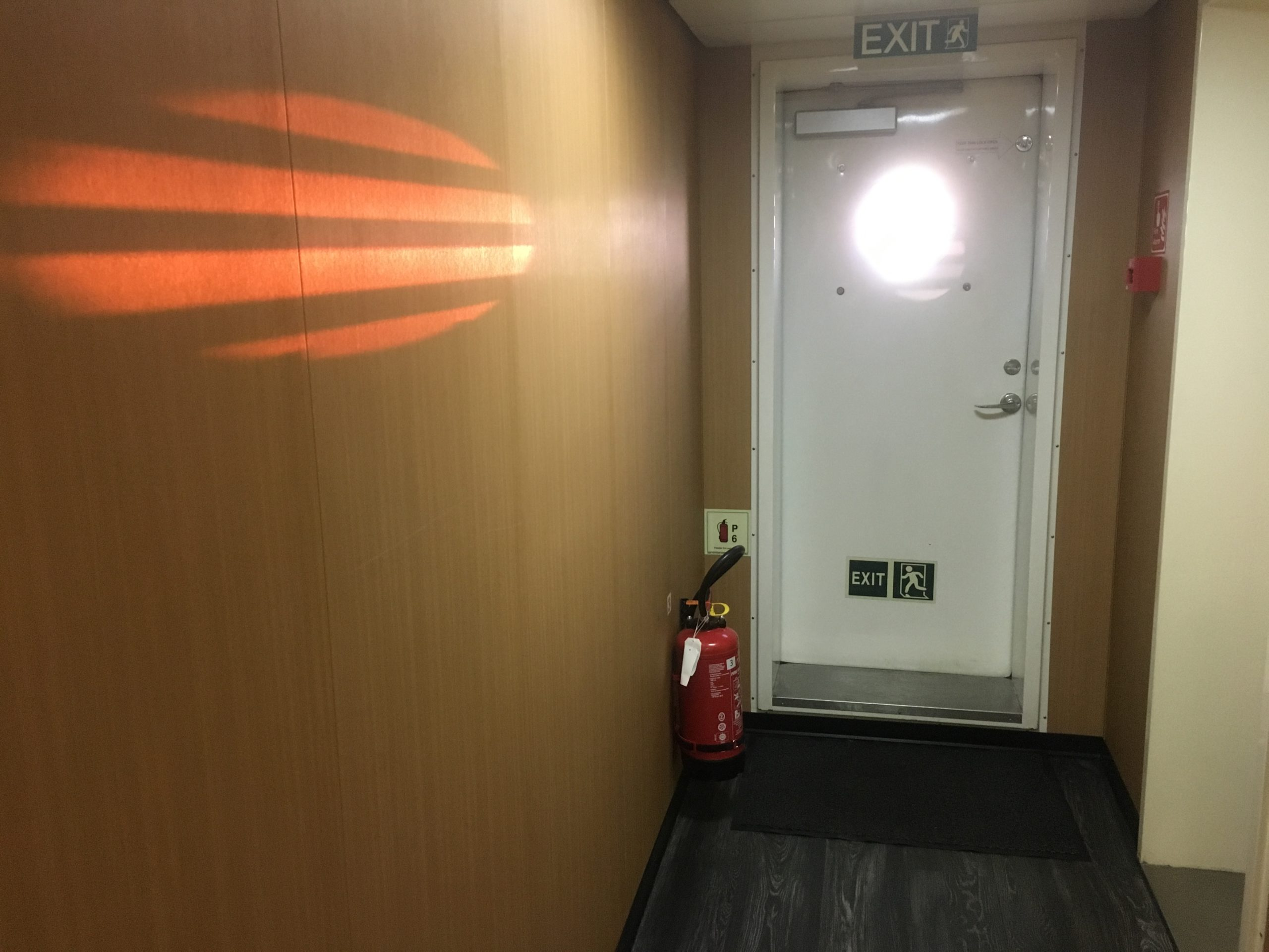 Gleam of sunset at the end of my corridor CC Coral