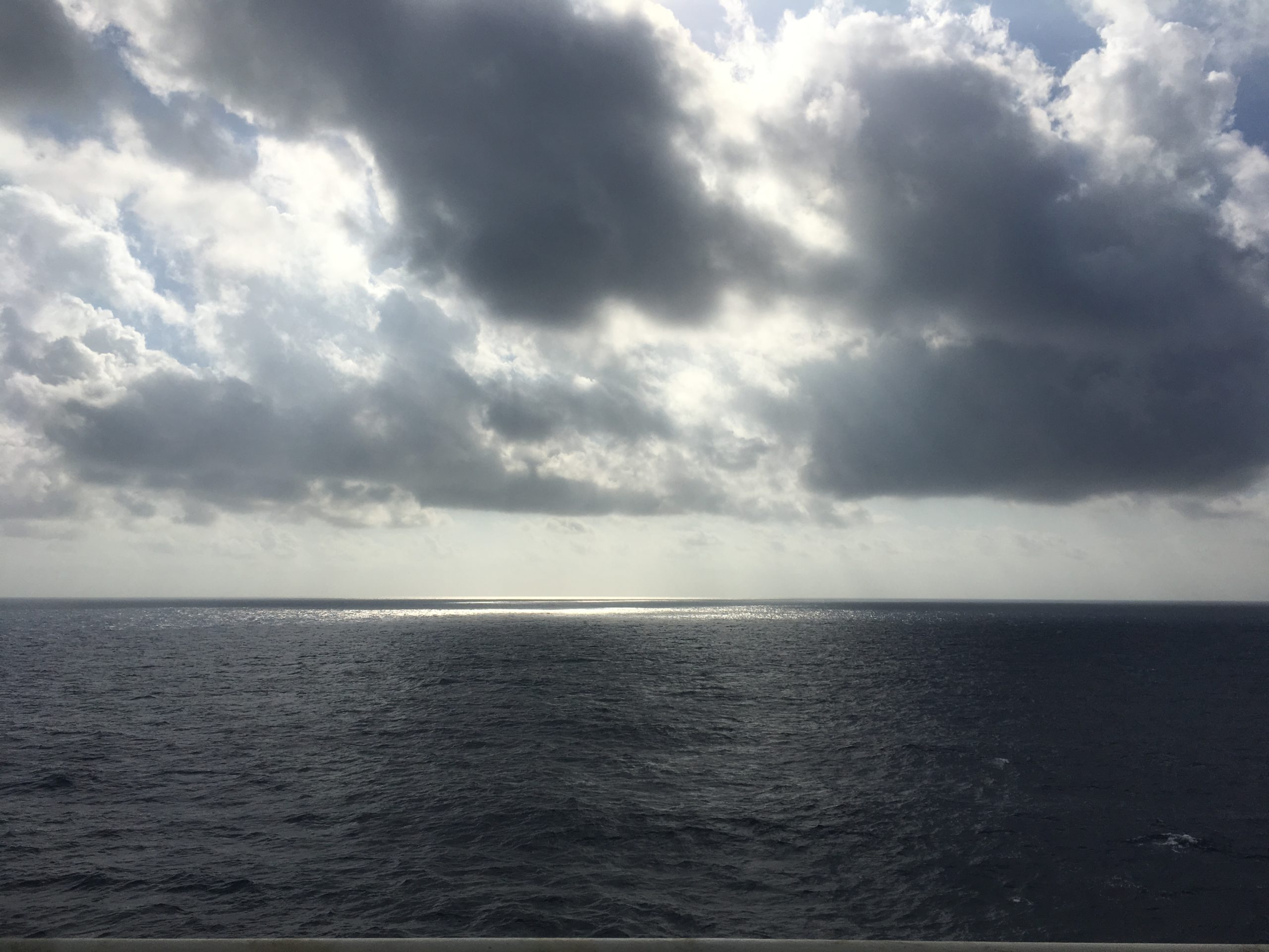 Break in the clouds over the Coral Sea