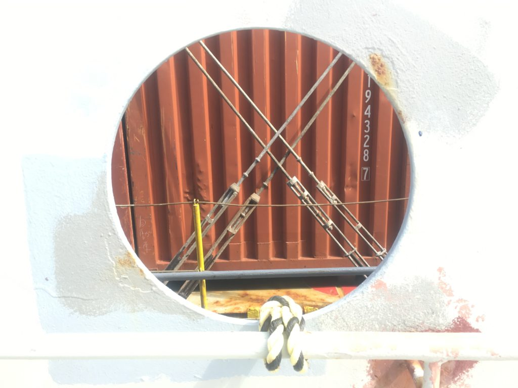 Container safely secured CC Coral