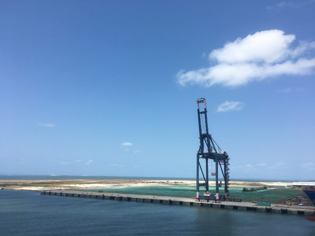 Land reclamation for Brisbane port extension