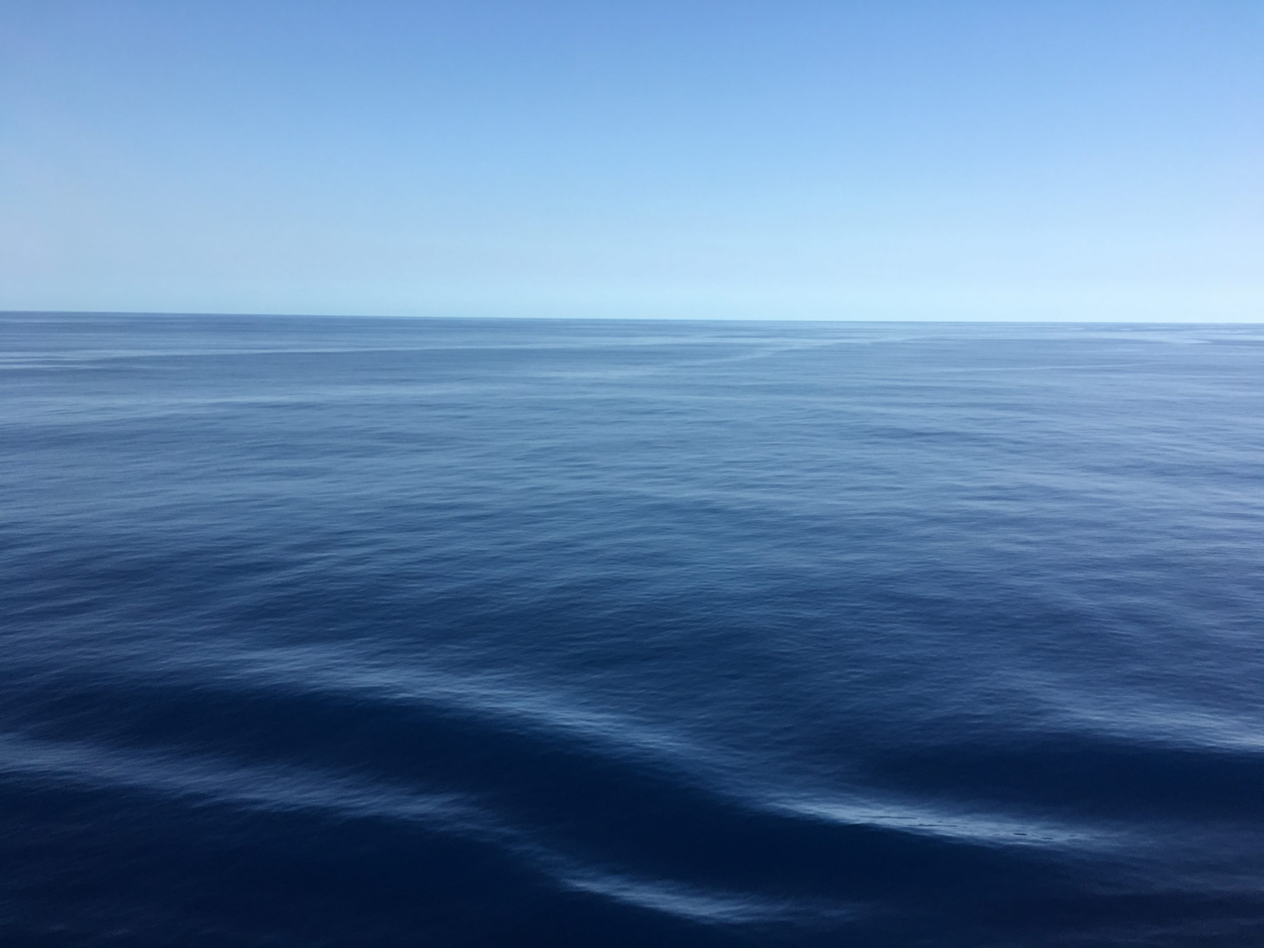 Smooth limid sea where the Tasman meets the Coral
