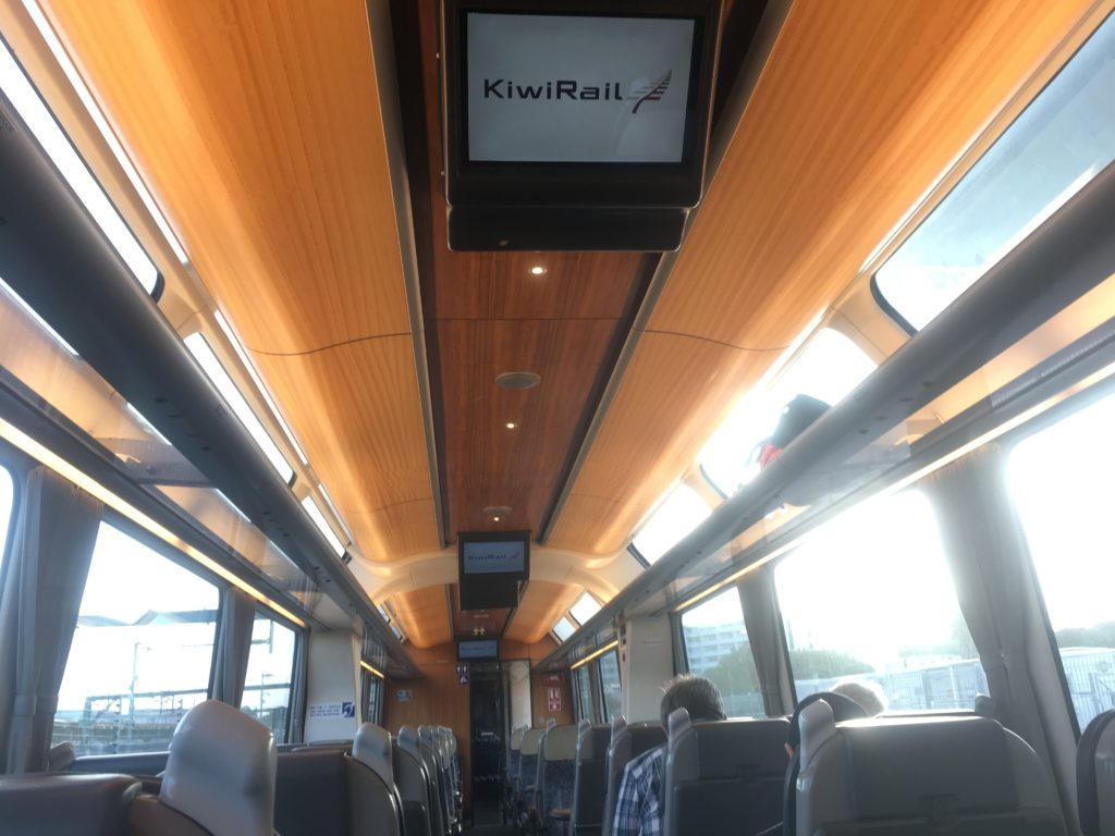 Light and bright carriages on Kiwi Rail